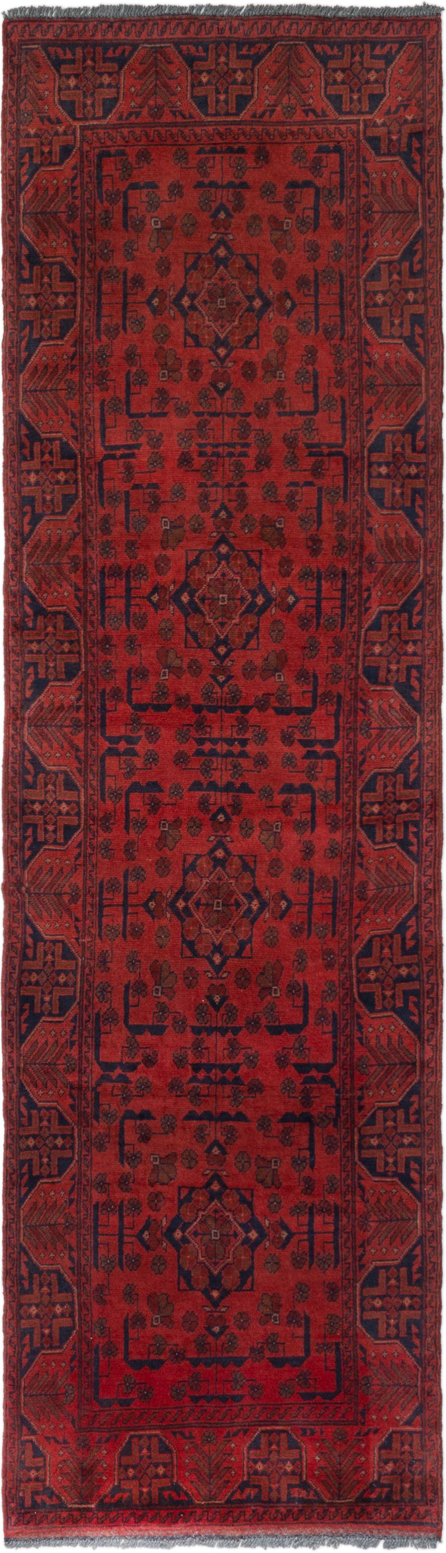"""Hand-knotted Finest Khal Mohammadi Red Wool Rug 2'7"""" x 9'3""""  Size: 2'7"""" x 9'3"""""""