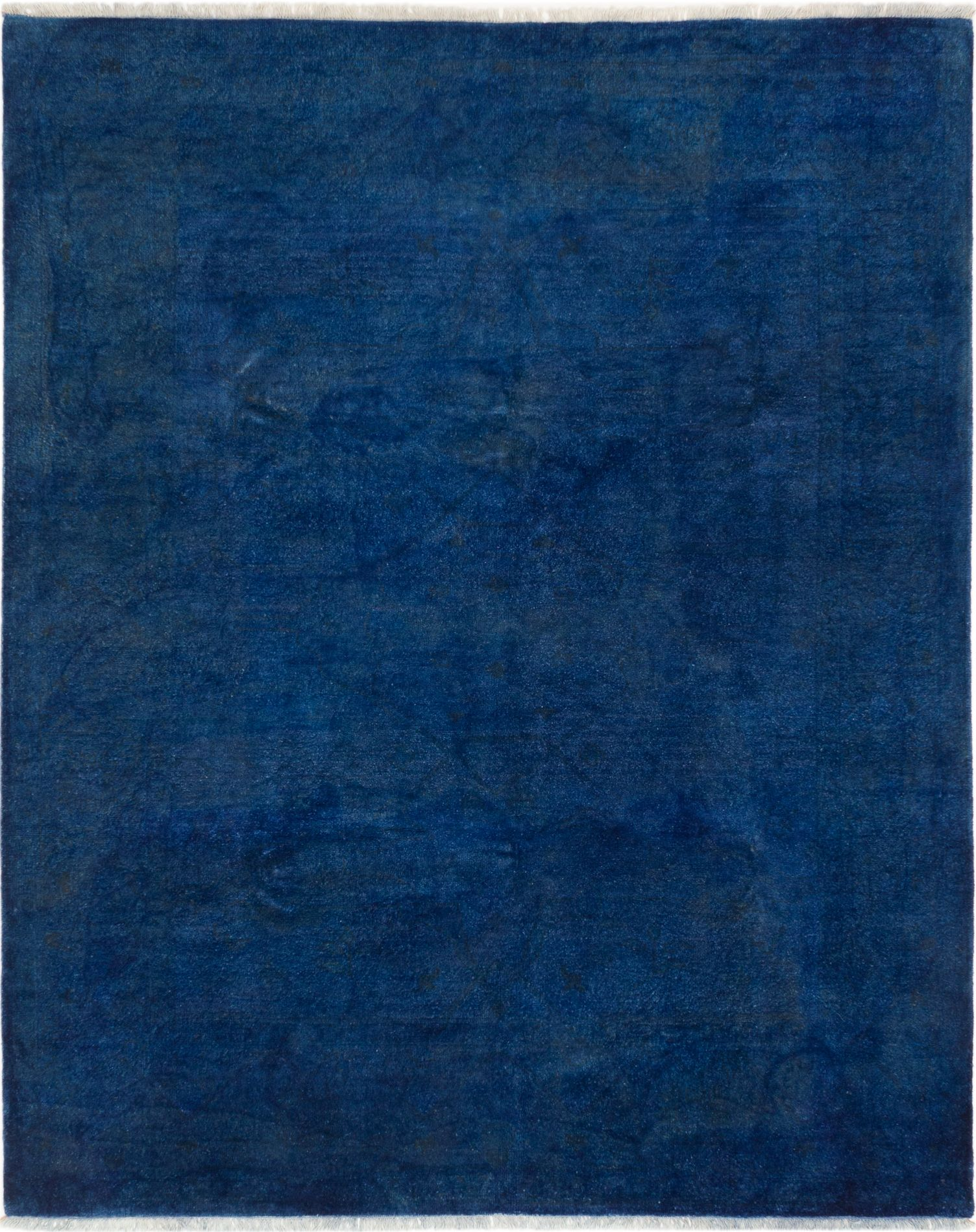 """Hand-knotted Color transition Dark Blue Wool Rug 8'0"""" x 9'10"""" Size: 8'0"""" x 9'10"""""""
