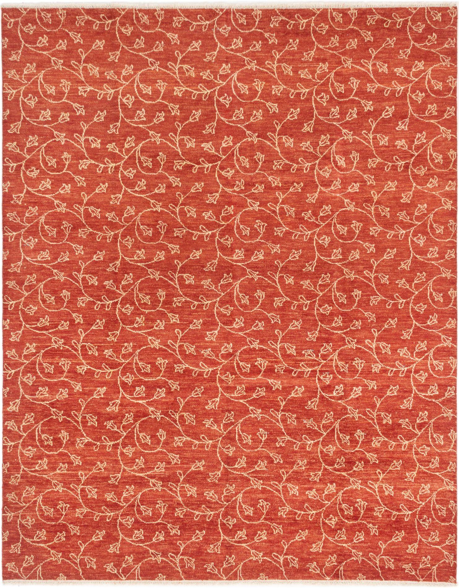"Hand-knotted Ziegler Chobi Dark Copper Wool Rug 7'8"" x 10'4"" Size: 7'8"" x 10'4"""