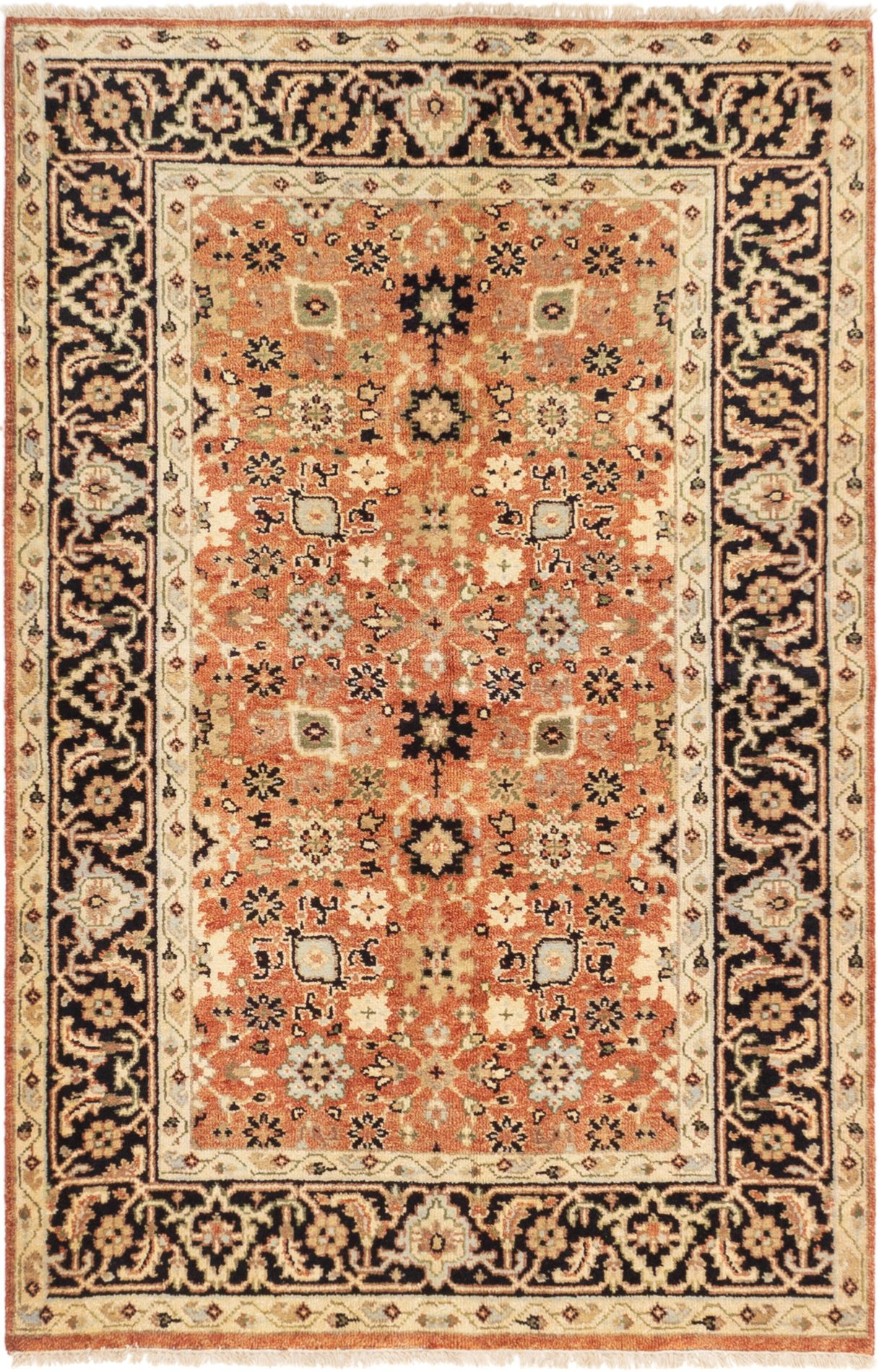 """Hand-knotted Serapi Heritage Dark Copper Wool Rug 5'0"""" x 7'7"""" Size: 5'0"""" x 7'7"""""""