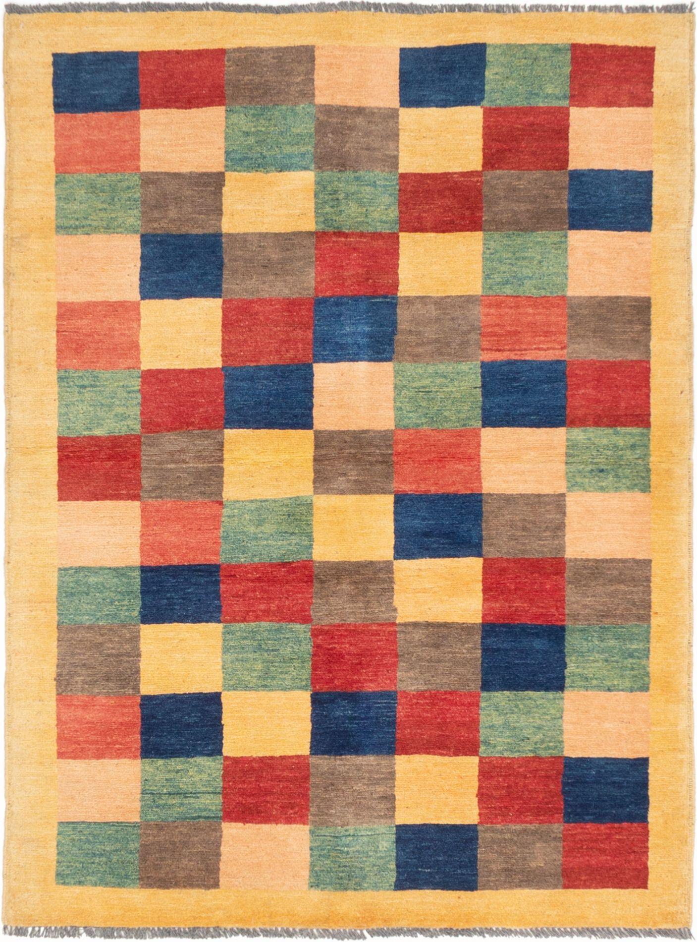 "Hand-knotted Ziegler Chobi Light Orange Wool Rug 4'4"" x 5'9"" Size: 4'4"" x 5'9"""