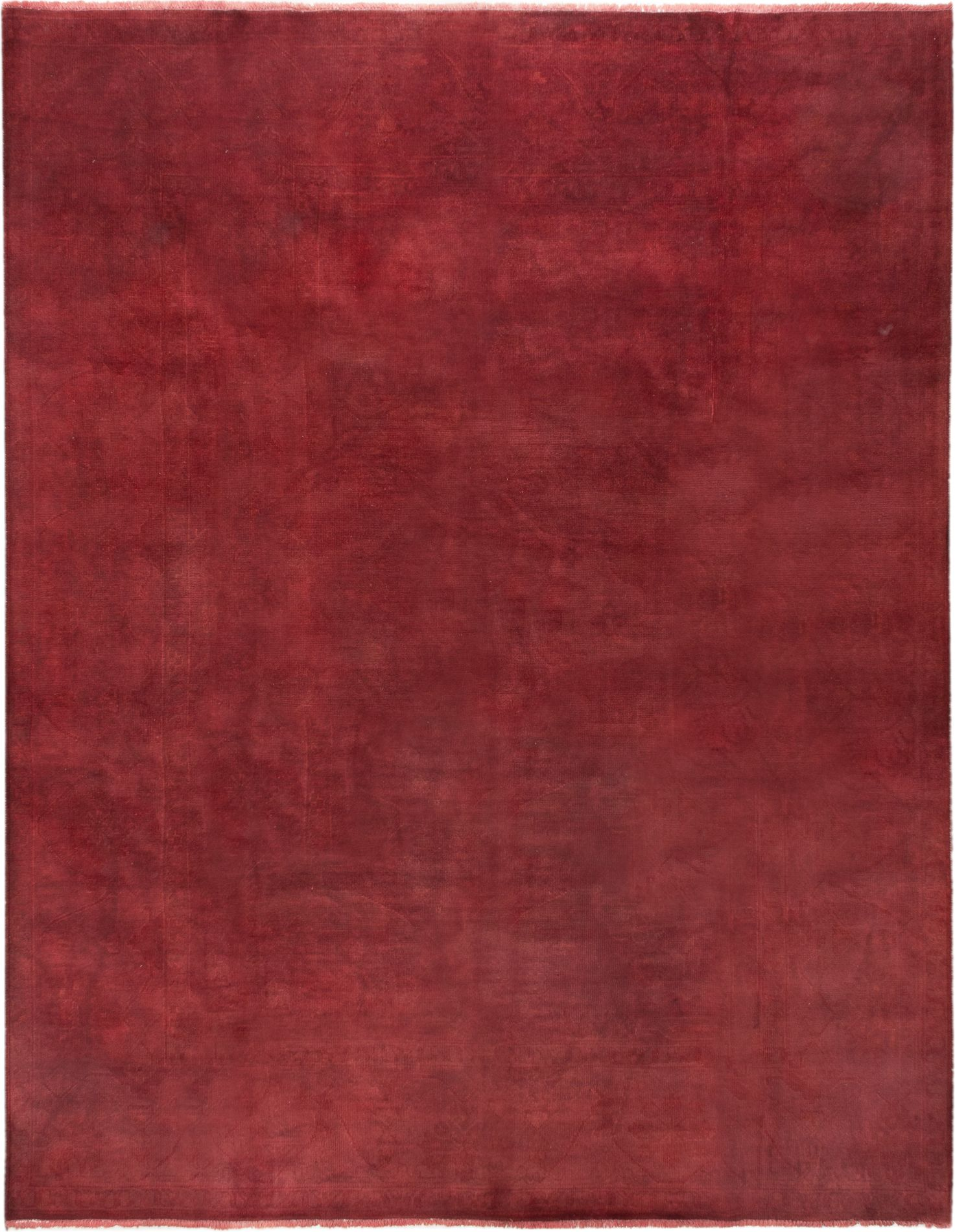 "Hand-knotted Color transition Burgundy Wool Rug 9'2"" x 11'8"" Size: 9'2"" x 11'8"""