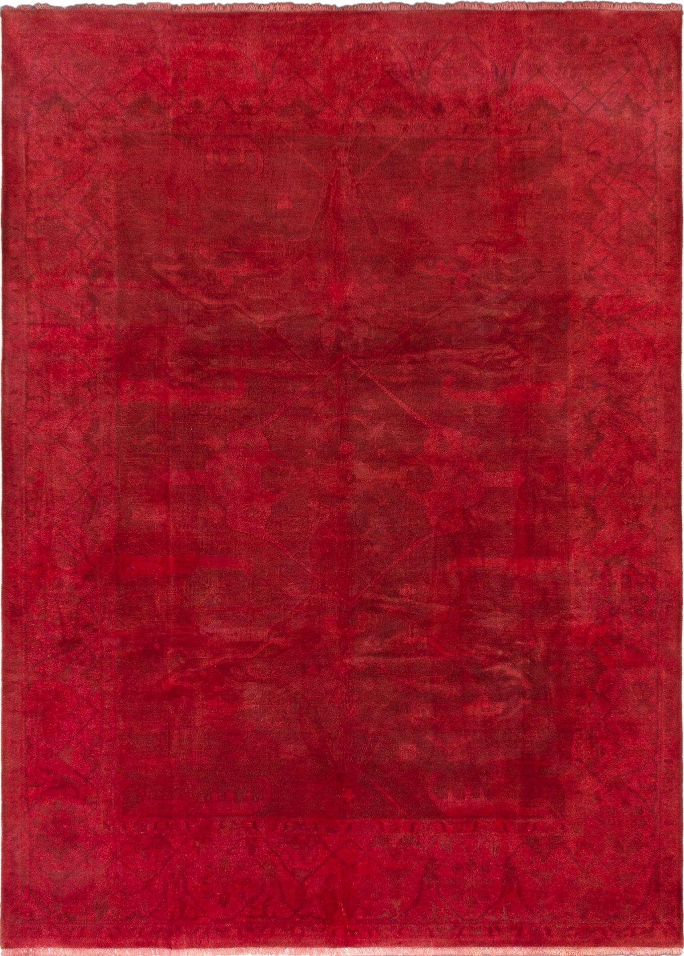 """Hand-knotted Color transition Light Burgundy Wool Rug 8'8"""" x 12'0"""" Size: 8'8"""" x 12'0"""""""