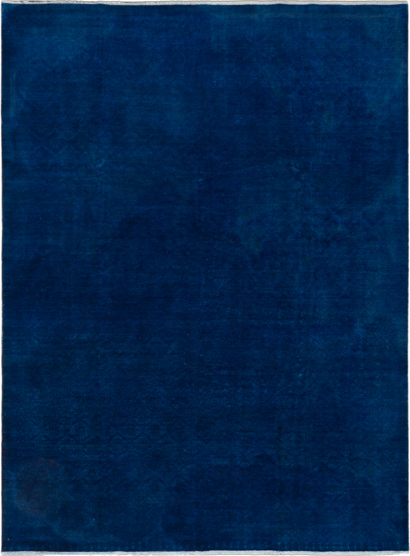 """Hand-knotted Color transition Dark Blue Wool Rug 8'11"""" x 11'11"""" Size: 8'11"""" x 11'11"""""""