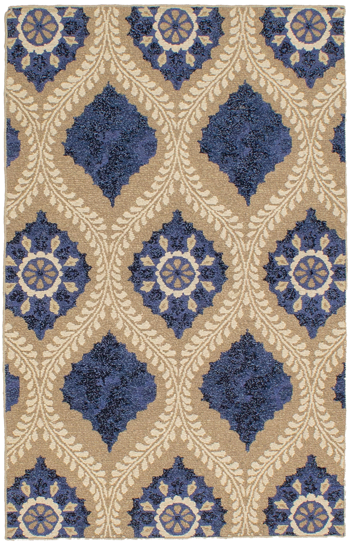 """Hand woven Tamar II Blue Wool Tapestry Kilim 3'6"""" x 5'6"""" Size: 3'6"""" x 5'6"""""""