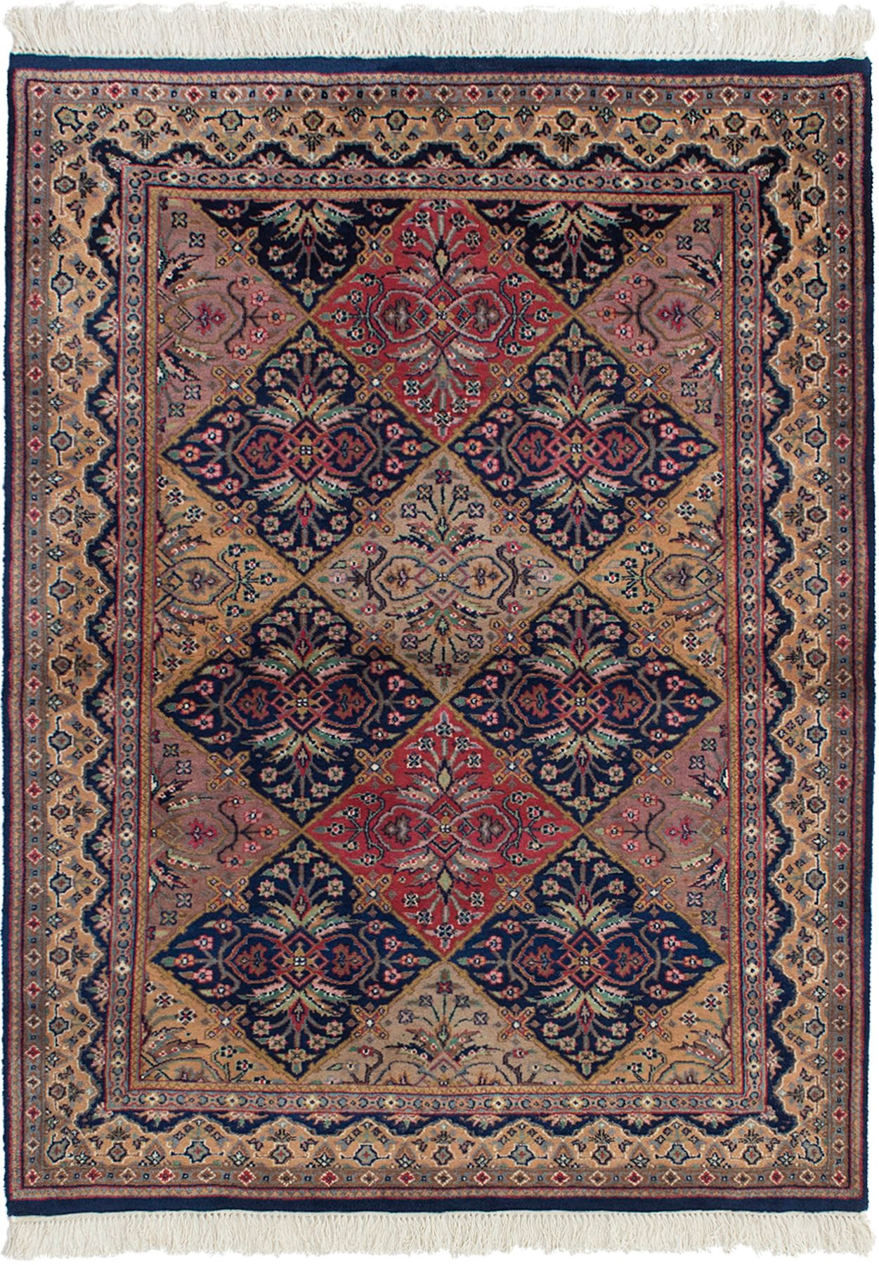 """Hand-knotted Royal Sarough Navy Blue Wool Rug 4'1"""" x 5'8"""" Size: 4'1"""" x 5'8"""""""