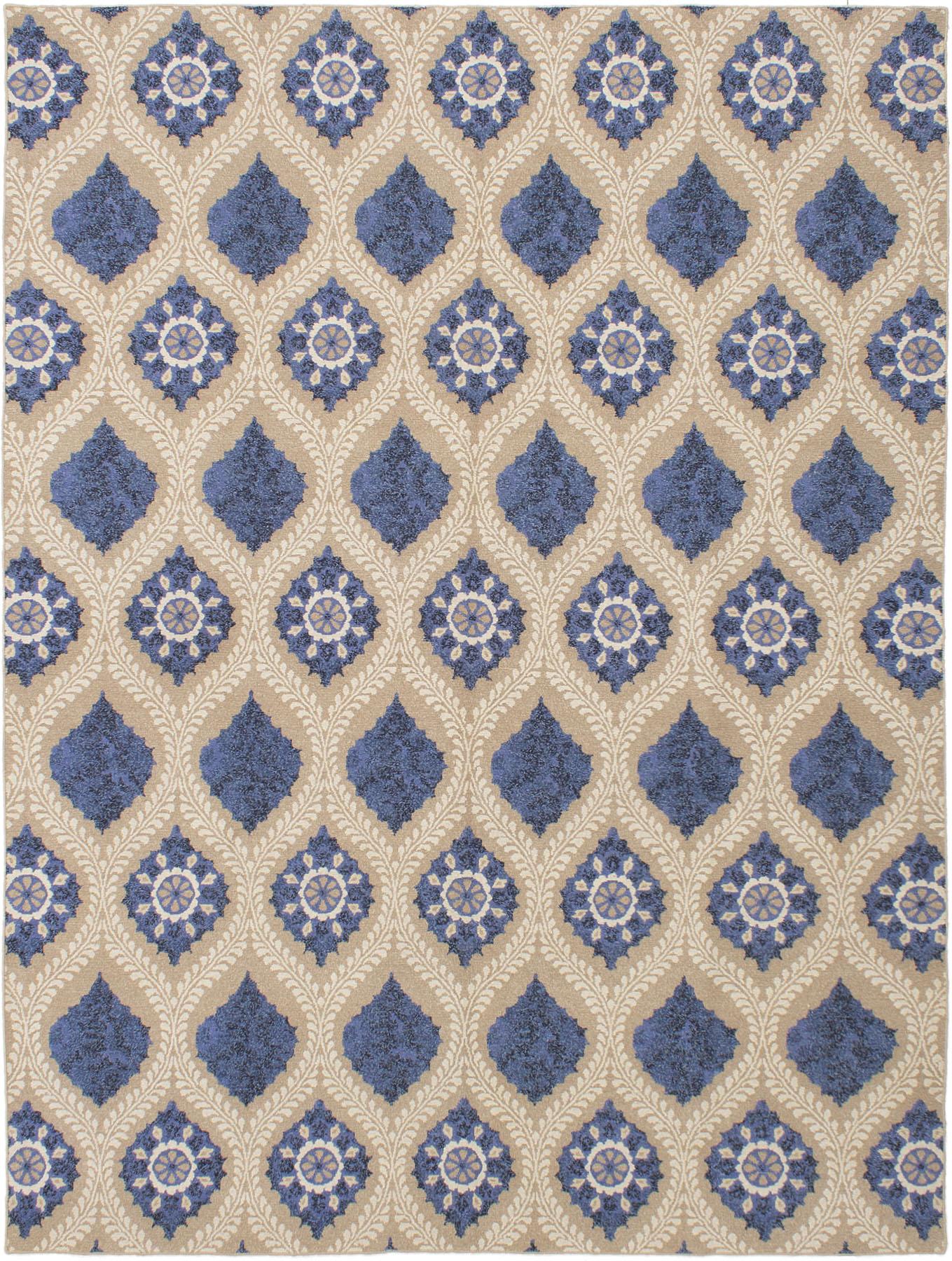 """Hand woven Tamar II Blue Wool Tapestry Kilim 8'6"""" x 11'6"""" Size: 8'6"""" x 11'6"""""""