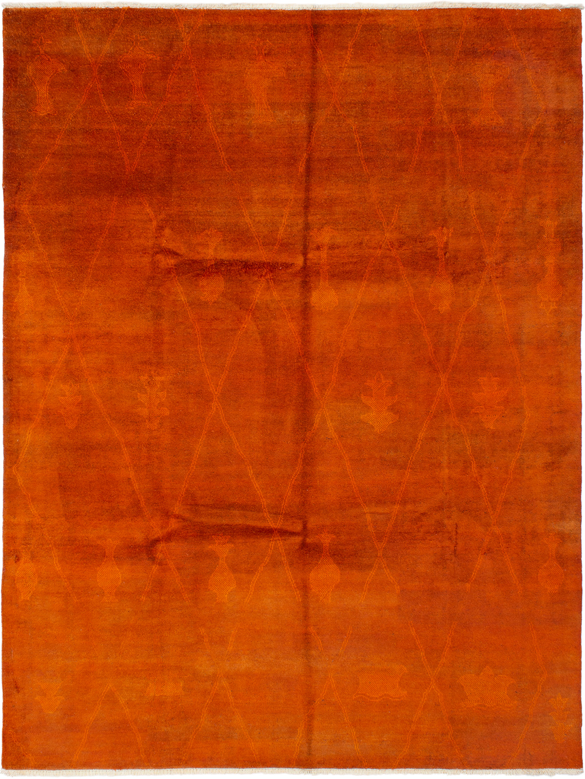 """Hand-knotted Vibrance Burnt Orange Wool Rug 8'9"""" x 11'8"""" Size: 8'9"""" x 11'8"""""""