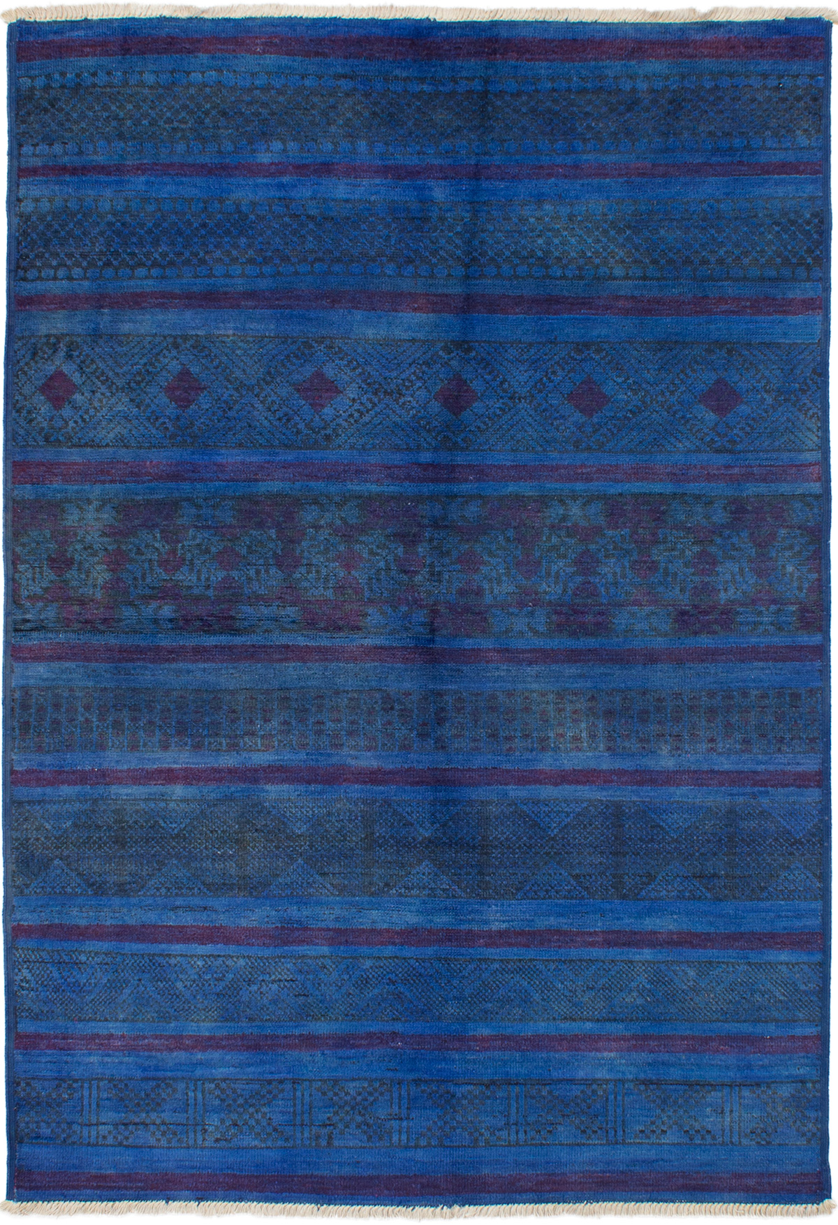 """Hand-knotted Vibrance Navy Blue Wool Rug 6'0"""" x 8'10"""" Size: 6'0"""" x 8'10"""""""