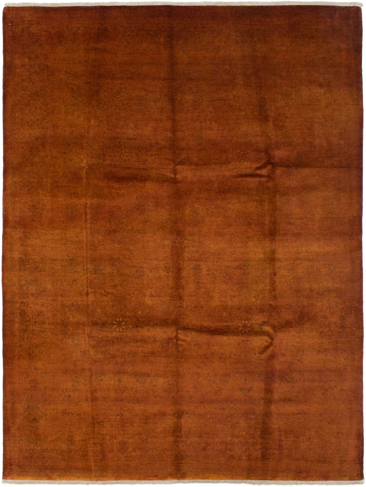 """Hand-knotted Vibrance Burnt Orange Wool Rug 7'10"""" x 10'3""""  Size: 7'10"""" x 10'3"""""""