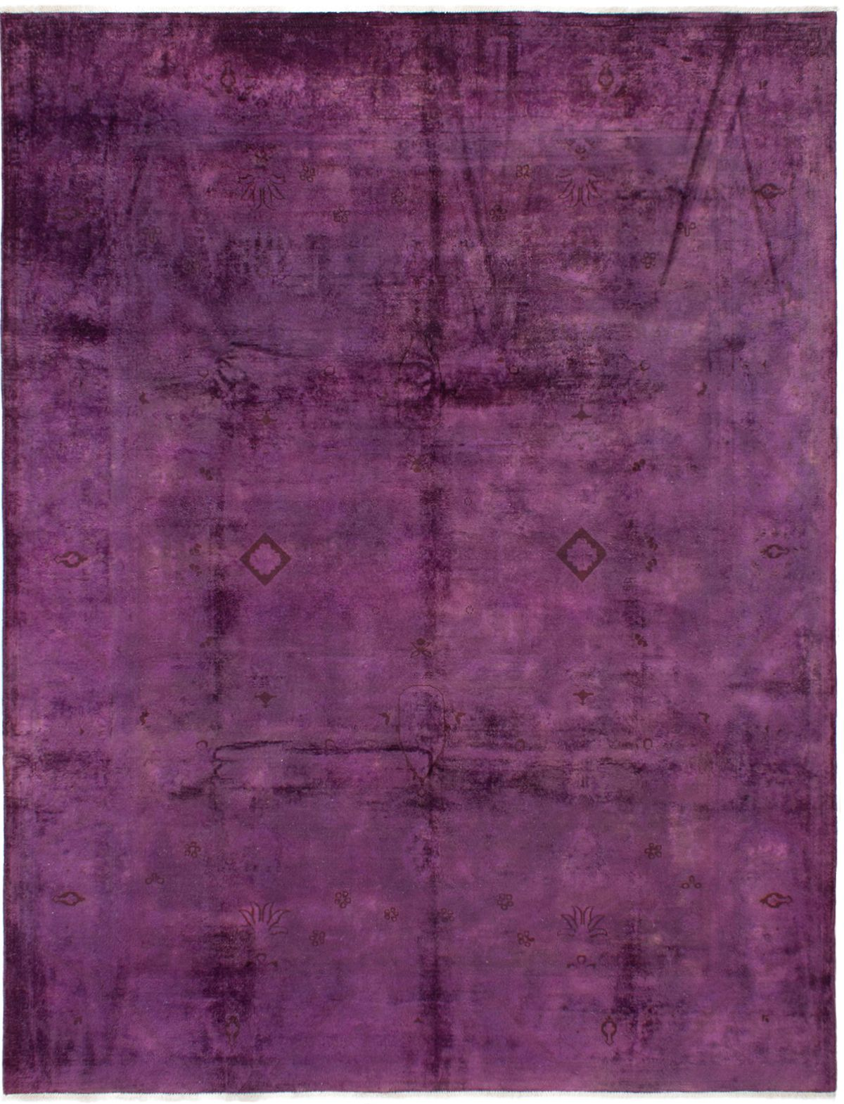 """Hand-knotted Color transition Dark Magenta Wool Rug 9'0"""" x 11'8"""" Size: 9'0"""" x 11'8"""""""