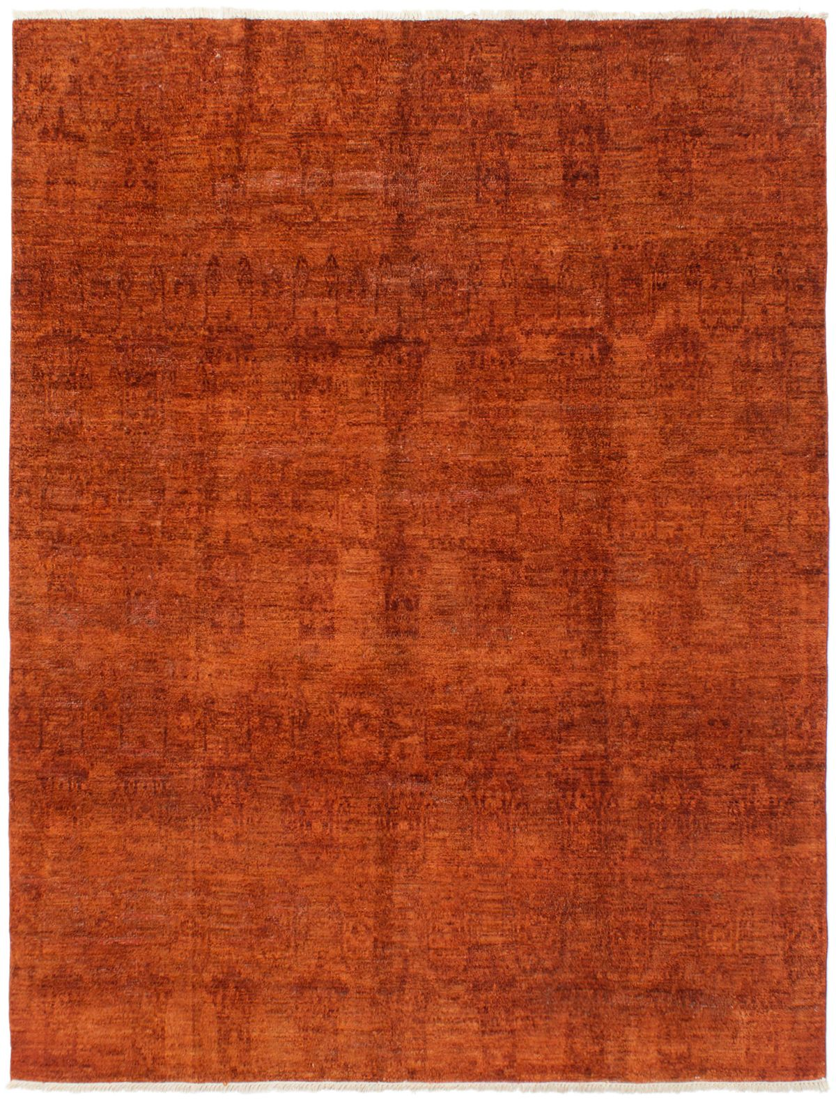 """Hand-knotted Vibrance Burnt Orange Wool Rug 7'8"""" x 10'0"""" Size: 7'8"""" x 10'0"""""""