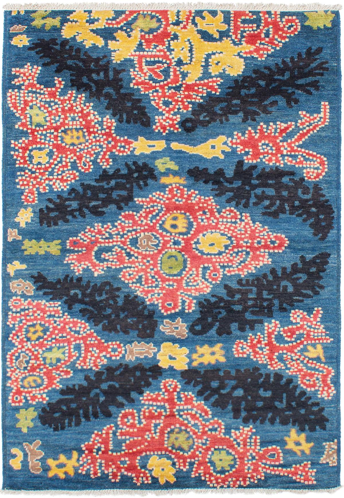 "Hand-knotted Shalimar Dark Blue Wool Rug 5'5"" x 7'10"" Size: 5'5"" x 7'10"""