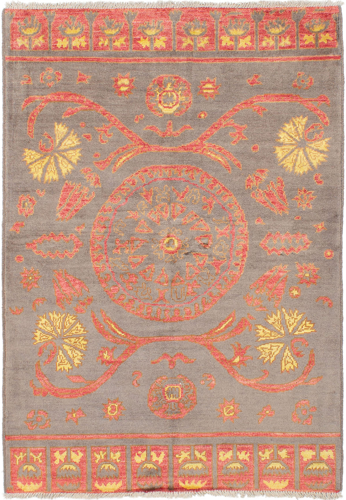 """Hand-knotted Shalimar Grey Wool Rug 5'3"""" x 7'5"""" Size: 5'3"""" x 7'5"""""""