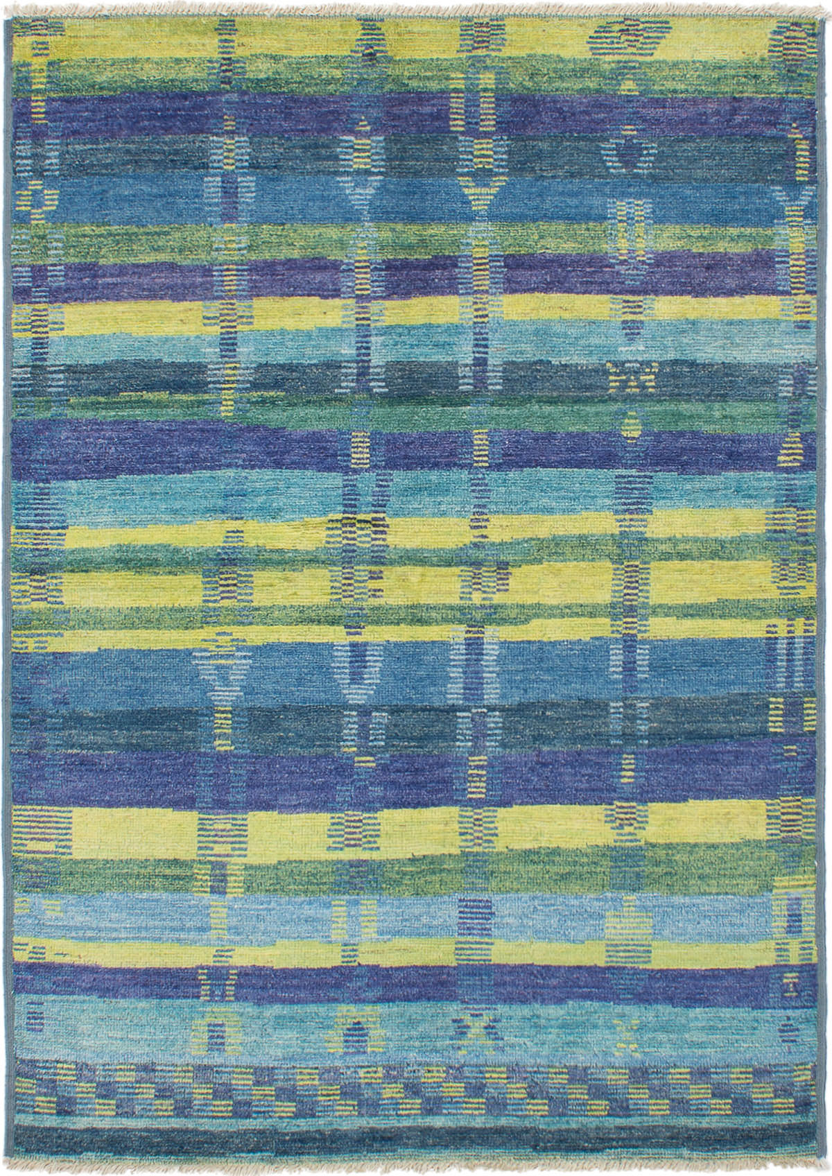 """Hand-knotted Shalimar Blue Wool Rug 6'5"""" x 8'2"""" Size: 6'5"""" x 8'2"""""""