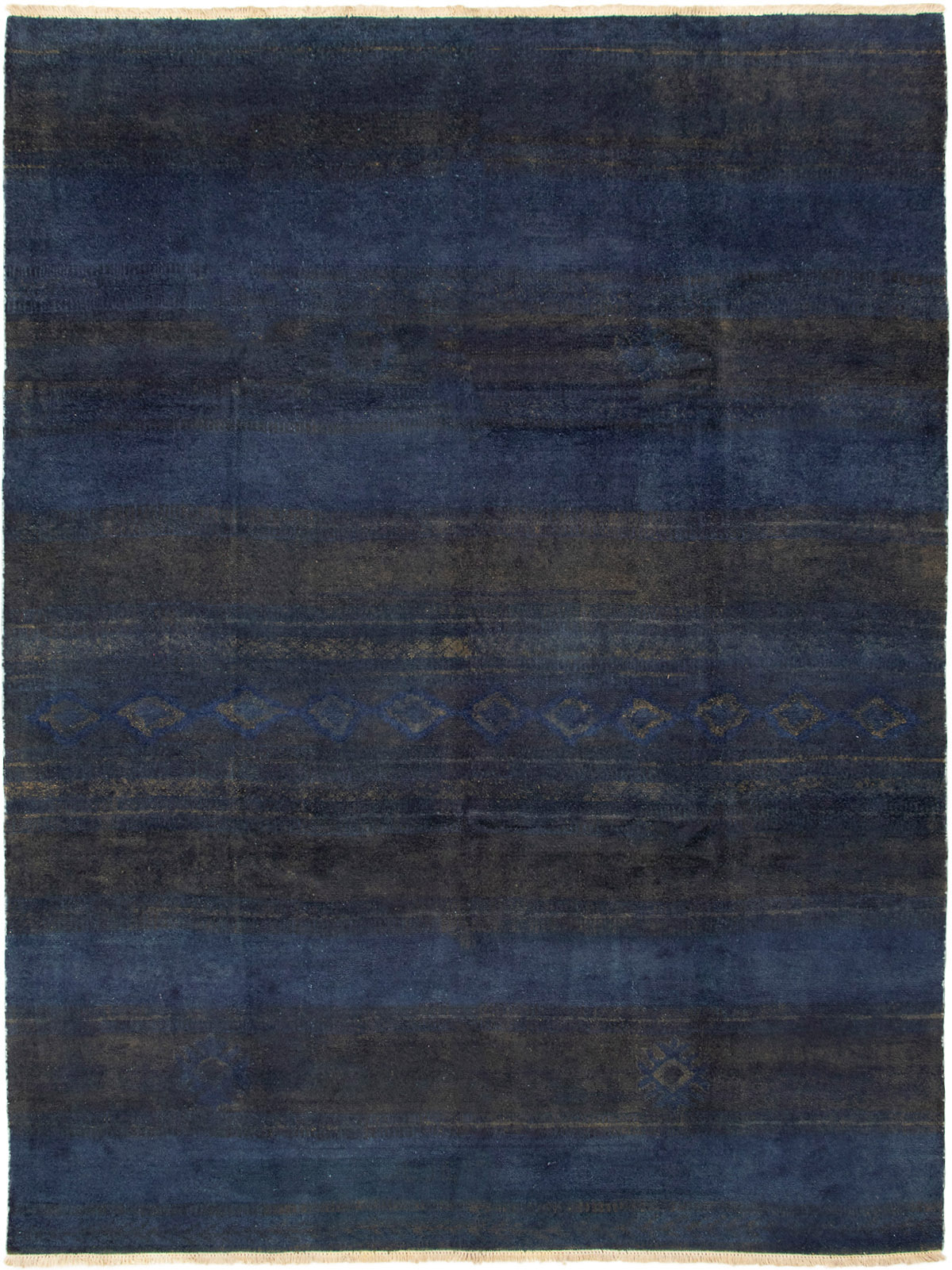 """Hand-knotted Vibrance Navy Blue Wool Rug 8'9"""" x 11'7"""" Size: 8'9"""" x 11'7"""""""