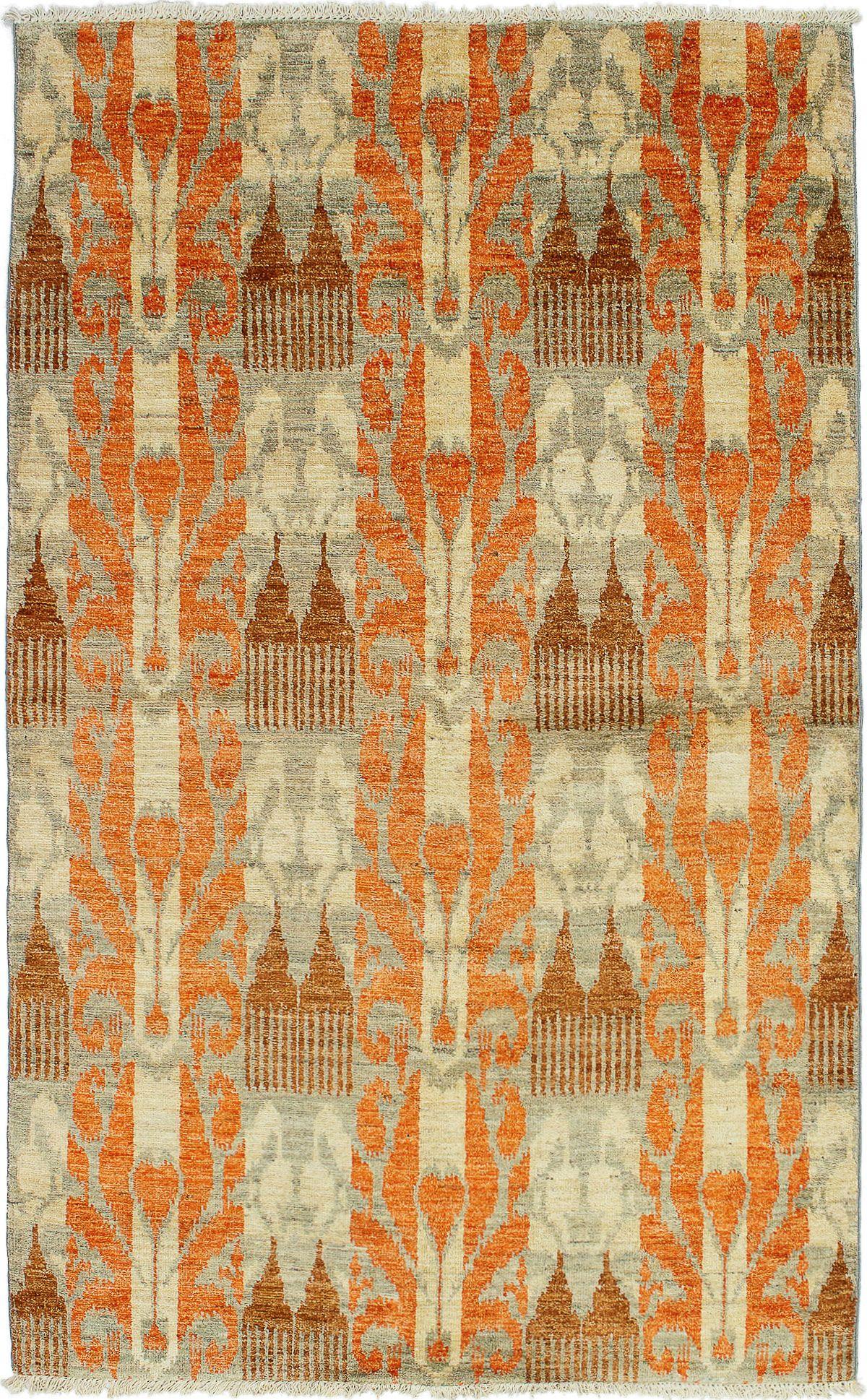 "Hand-knotted Shalimar Burnt Orange Wool Rug 5'0"" x 8'2"" Size: 5'0"" x 8'2"""