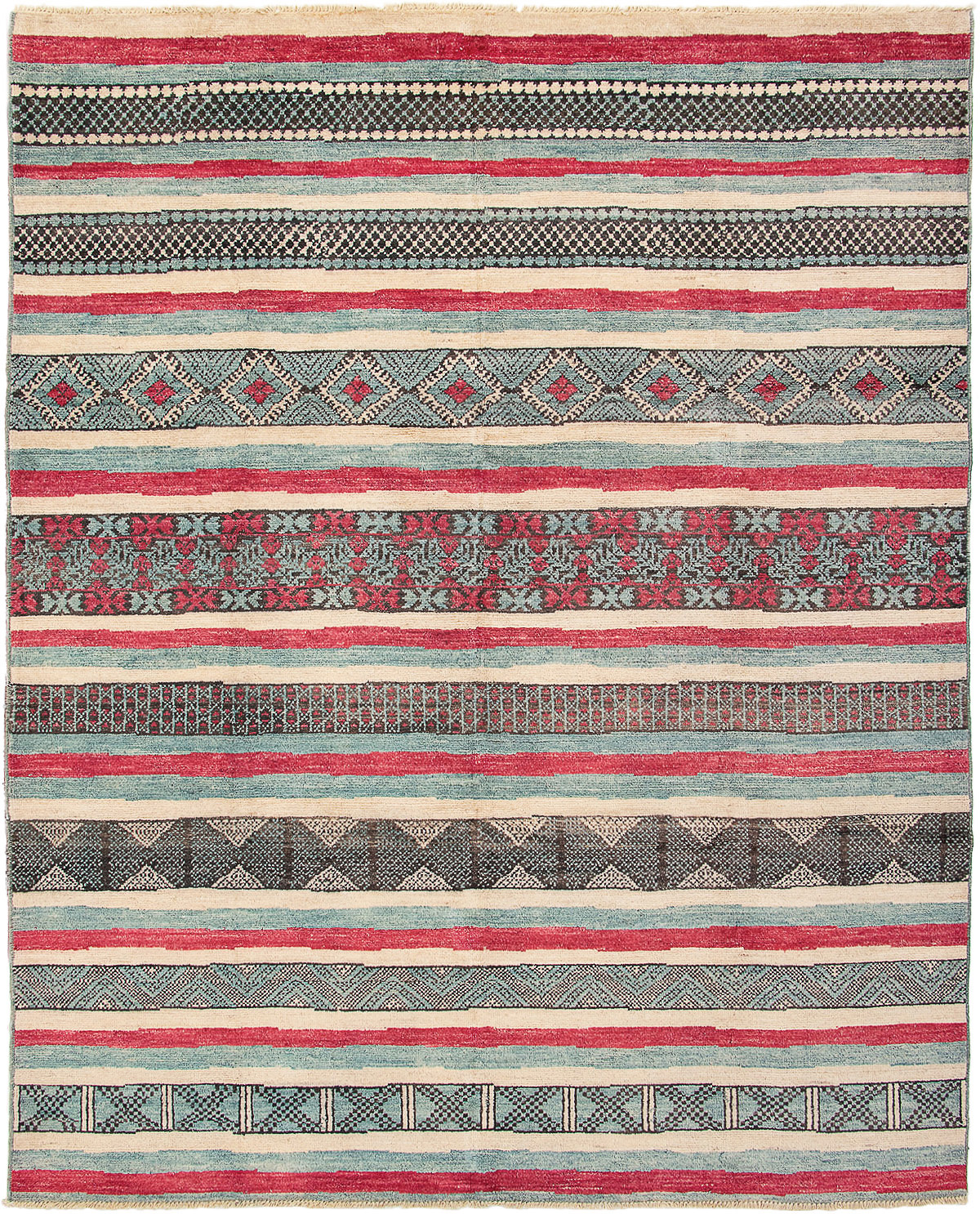 """Hand-knotted Shalimar Dark Red, Light Blue  Wool Rug 9'4"""" x 11'9"""" Size: 9'4"""" x 11'9"""""""