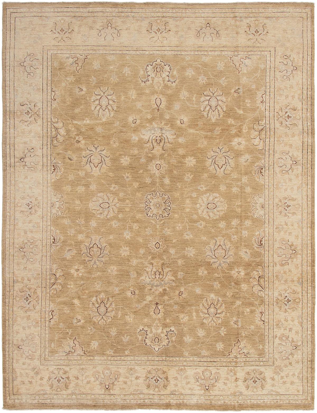 "Hand-knotted Chobi Finest Khaki Wool Rug 8'0"" x 10'2"" Product Image"