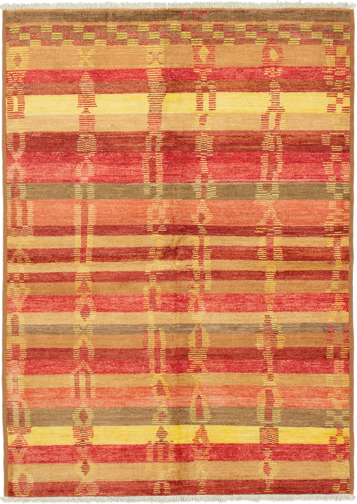 "Hand-knotted Shalimar Red Wool Rug 6'3"" x 8'9"" Size: 6'3"" x 8'9"""