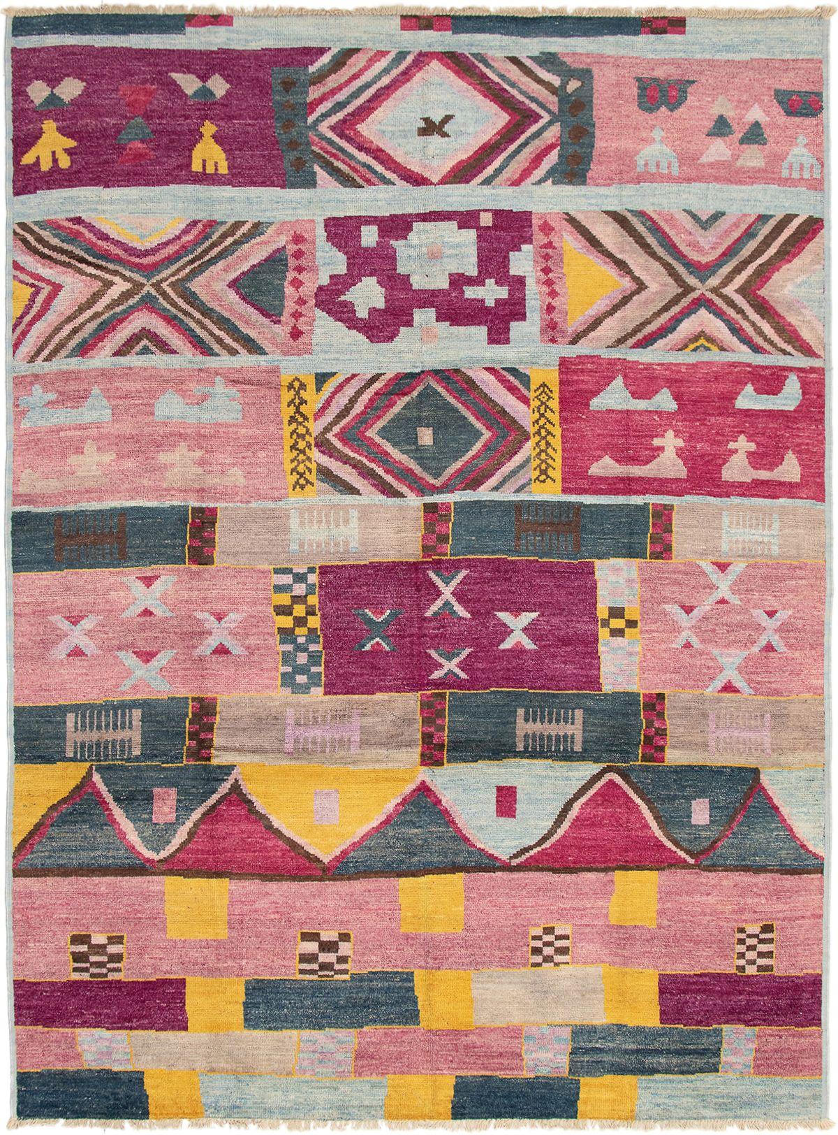 "Hand-knotted Shalimar Burgundy, Dark Pink Wool Rug 8'9"" x 11'9"" Size: 8'9"" x 11'9"""