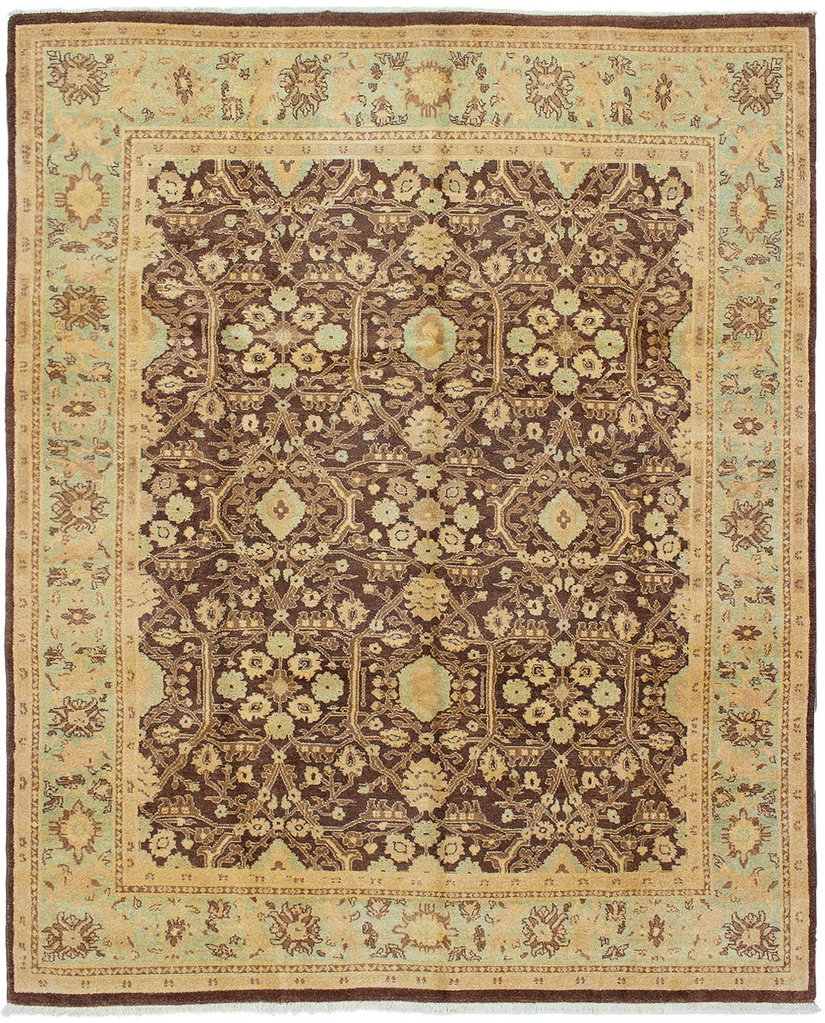"""Hand-knotted Chobi Twisted Dark Brown Wool Rug 8'0"""" x 9'10"""" Size: 8'0"""" x 9'10"""""""