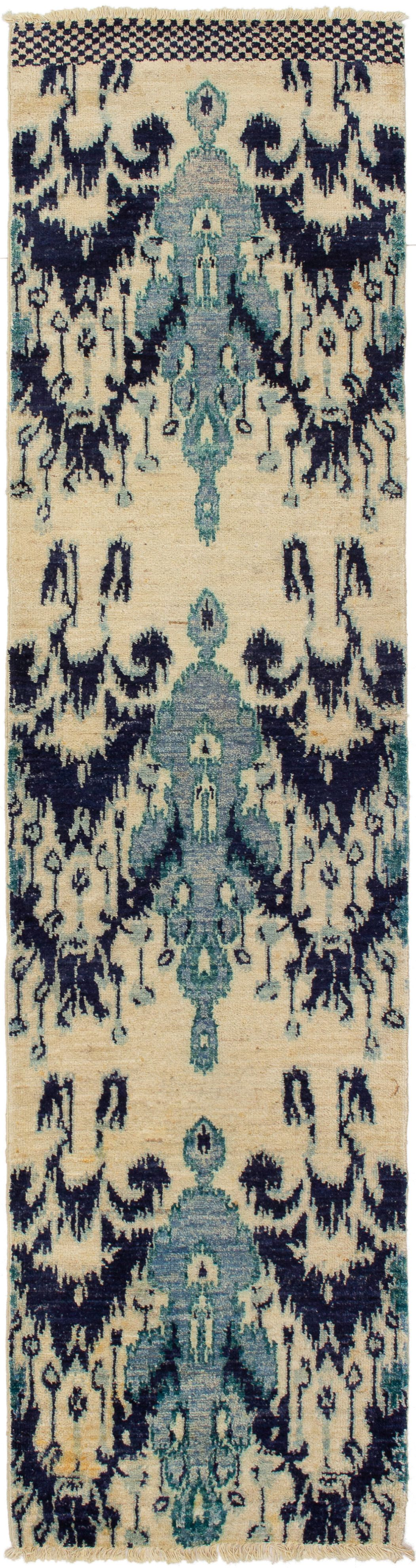 """Hand-knotted Shalimar Cream Wool Rug 2'6"""" x 10'4"""" Size: 2'6"""" x 10'4"""""""