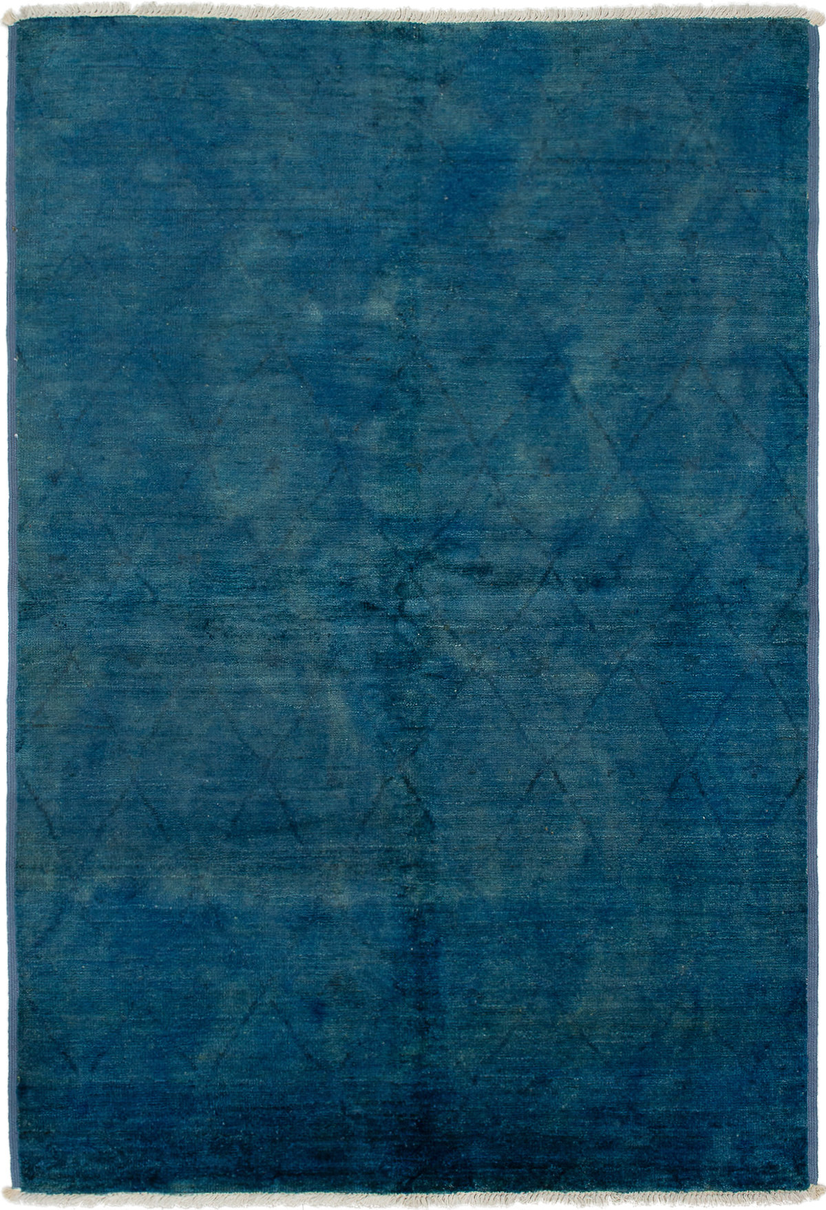 """Hand-knotted Vibrance Blue Wool Rug 6'1"""" x 9'0"""" Size: 6'1"""" x 9'0"""""""