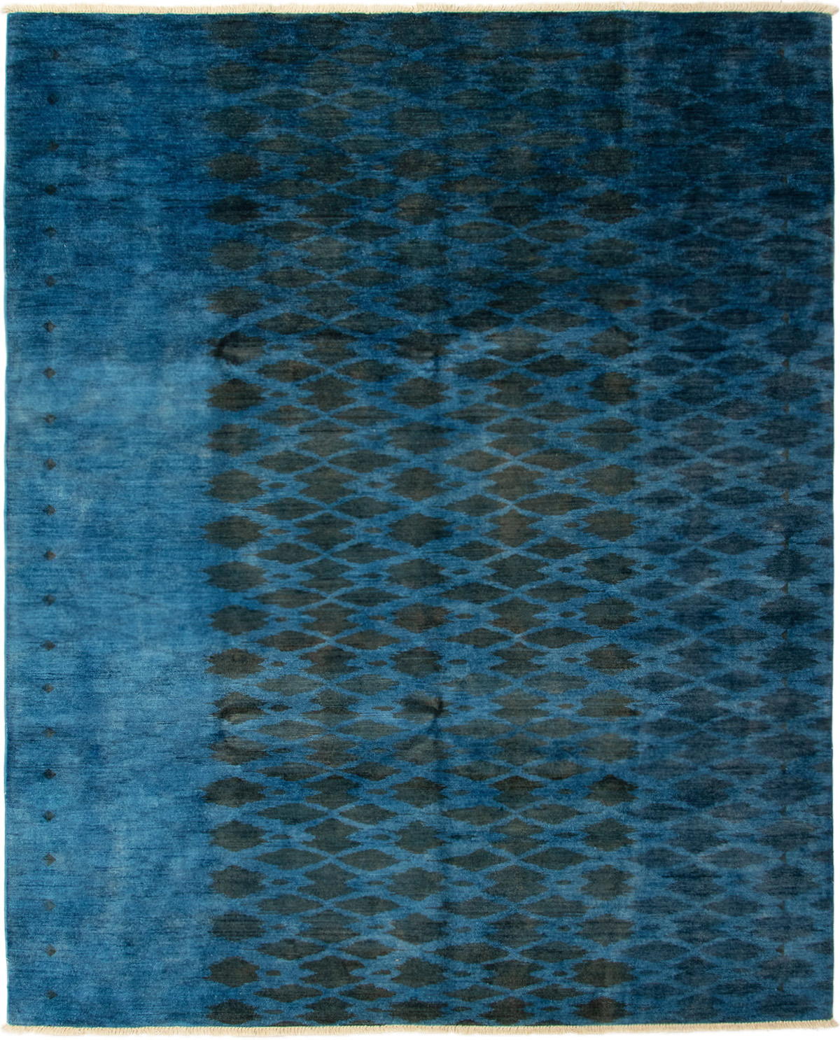 "Hand-knotted Vibrance Blue Wool Rug 7'10"" x 9'8"" Size: 7'10"" x 9'8"""