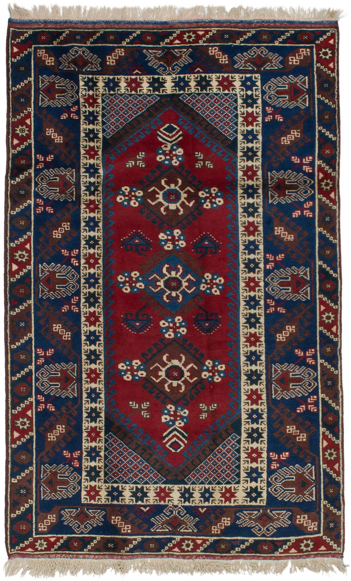 "Hand-knotted Antique Shiravan Dark Blue Wool Rug 3'11"" x 6'3"" Size: 3'11"" x 6'3"""