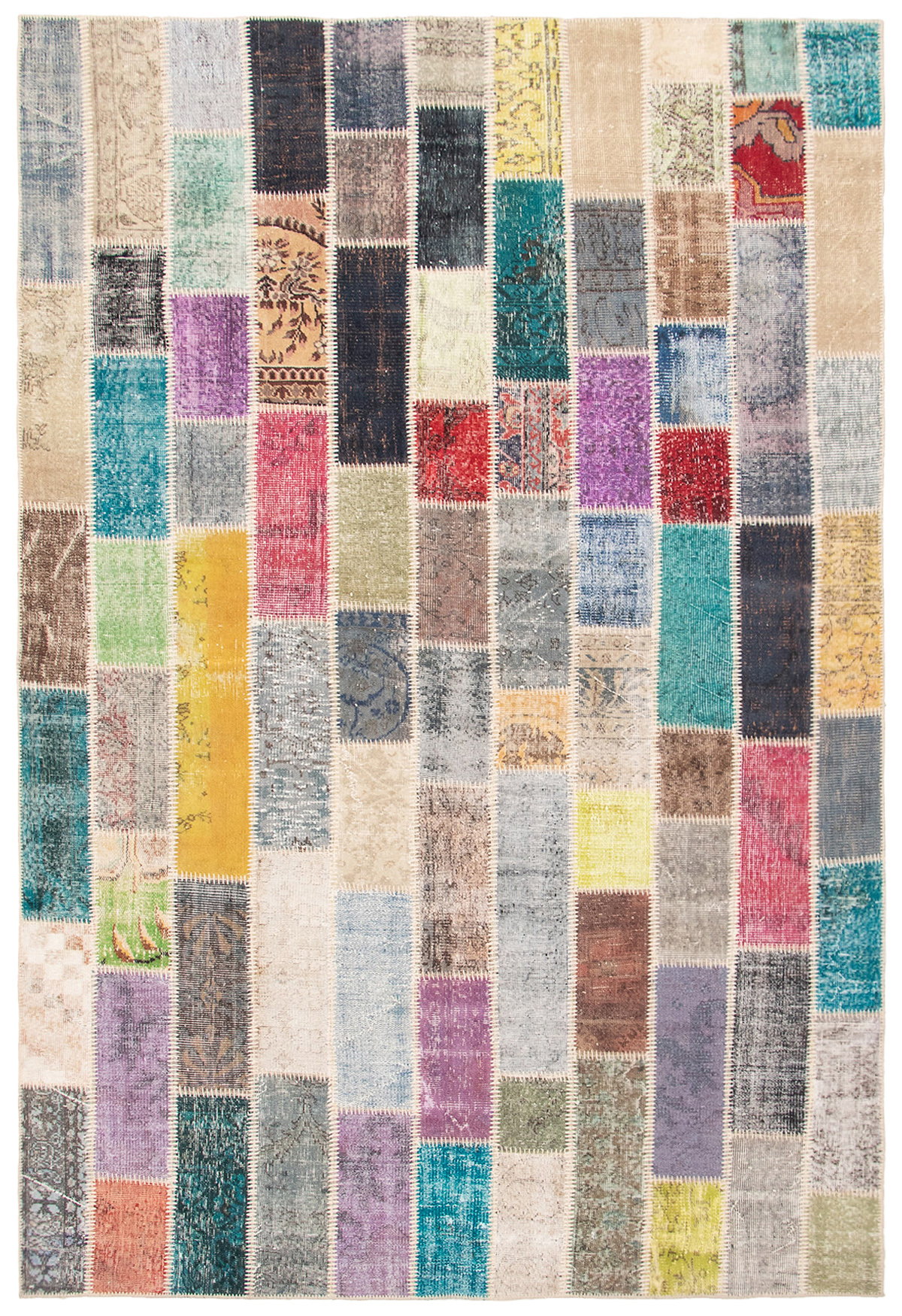 """Hand-knotted Color Transition Patch Grey Wool Rug 6'10"""" x 10'2"""" Size: 6'10"""" x 10'2"""""""