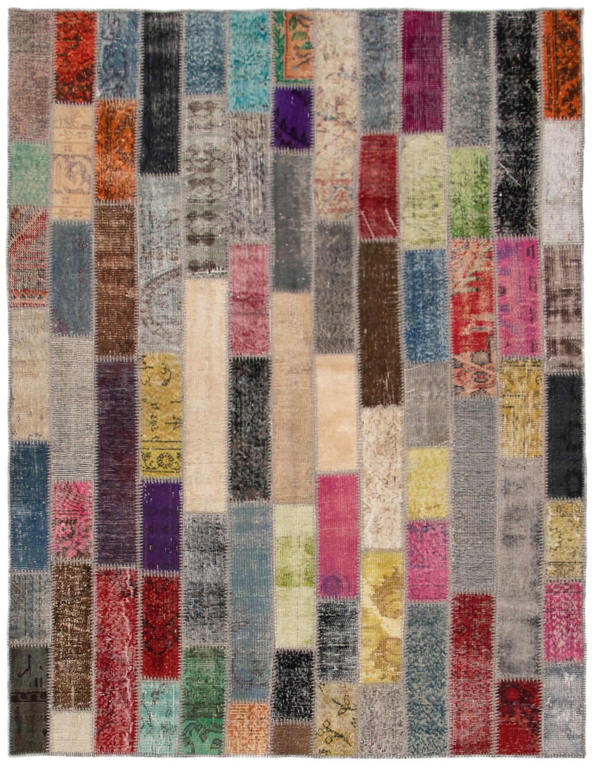 """Hand-knotted Color Transition Patch Grey, Slate Blue Wool Rug 6'0"""" x 7'11"""" Size: 6'0"""" x 7'11"""""""