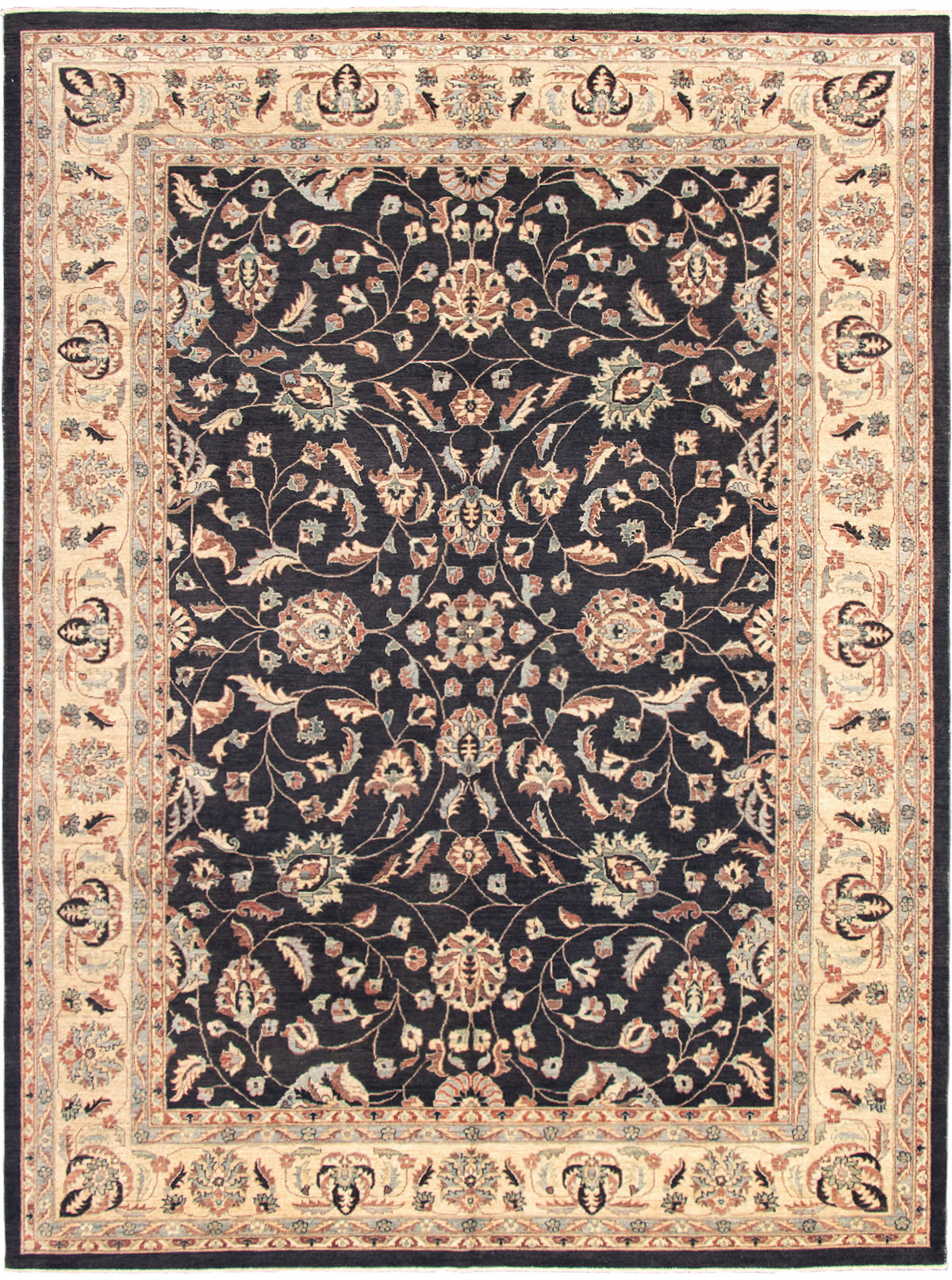 """Hand-knotted Chobi Finest Black Wool Rug 9'10"""" x 13'5"""" Size: 9'10"""" x 13'5"""""""