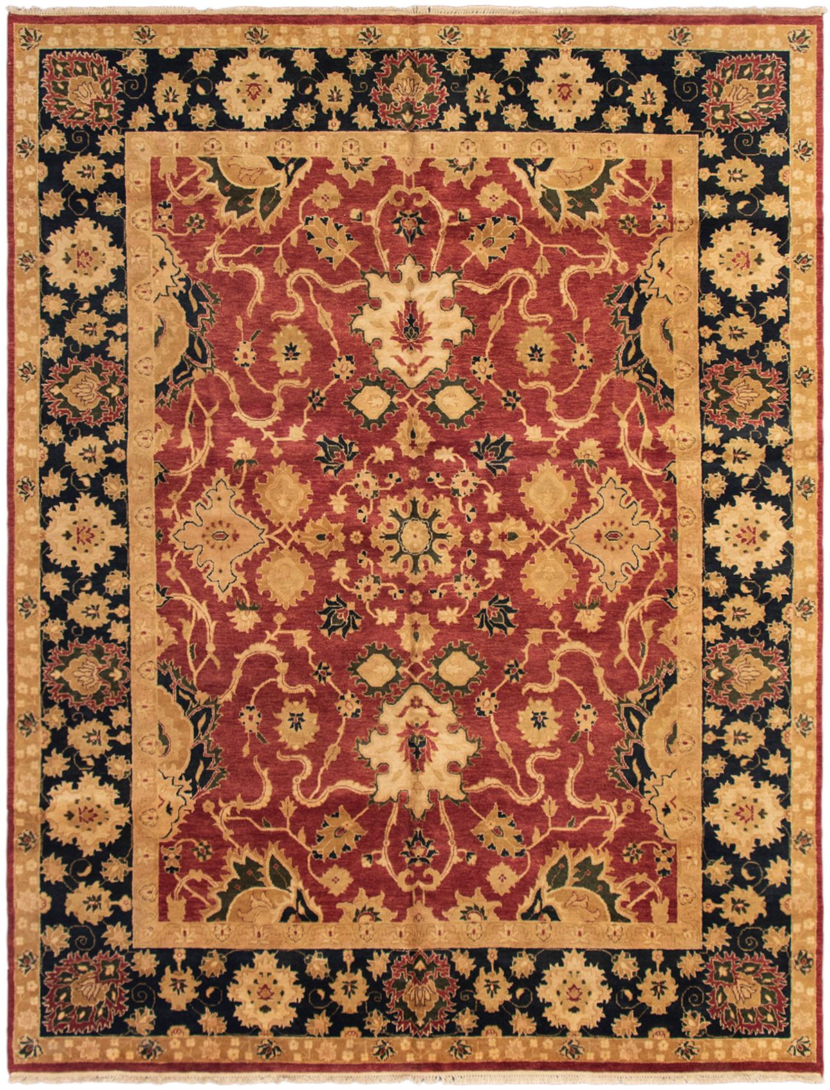 """Hand-knotted Chobi Twisted Dark Red Wool Rug 9'8"""" x 13'0"""" Size: 9'8"""" x 13'0"""""""