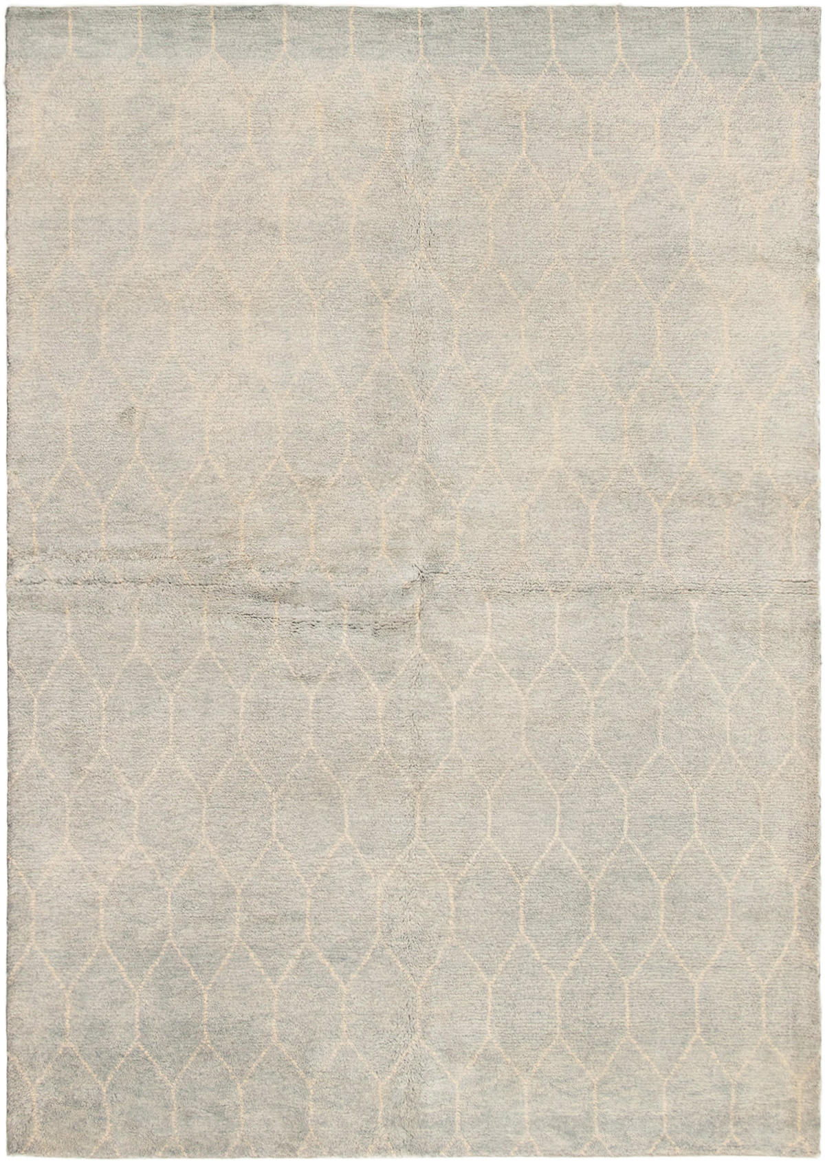 """Hand-knotted Arlequin Light Blue  Wool Rug 6'3"""" x 8'10"""" Size: 6'3"""" x 8'10"""""""