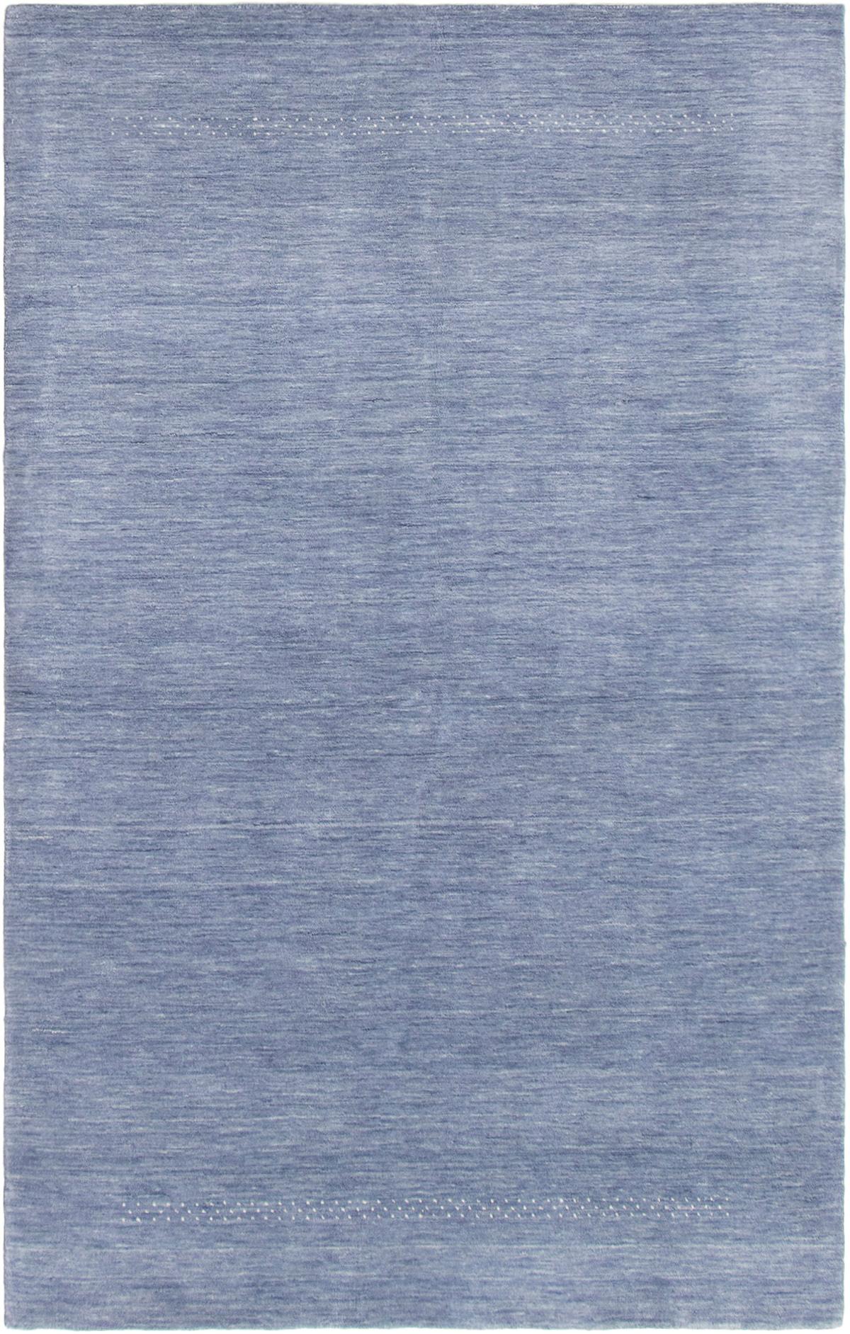 """Hand-knotted Kashkuli Gabbeh Slate Blue Wool Rug 5'0"""" x 8'0"""" Size: 5'0"""" x 8'0"""""""