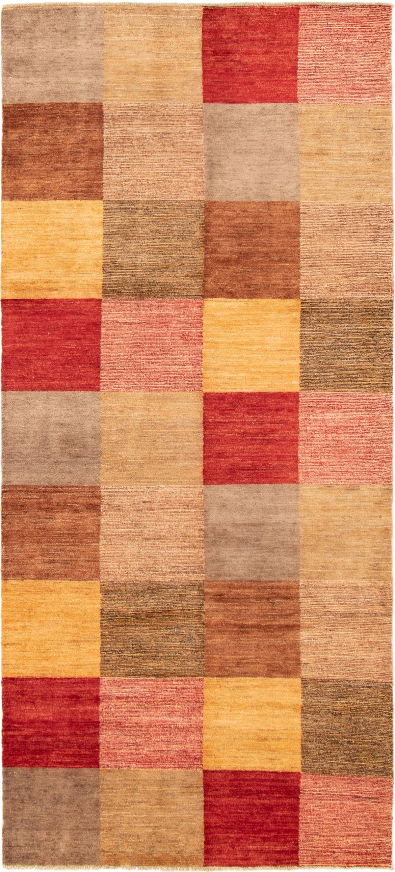 "Hand-knotted Finest Ziegler Chobi Brown, Light Orange Wool Rug 4'0"" x 9'0"" Size: 4'0"" x 9'0"""