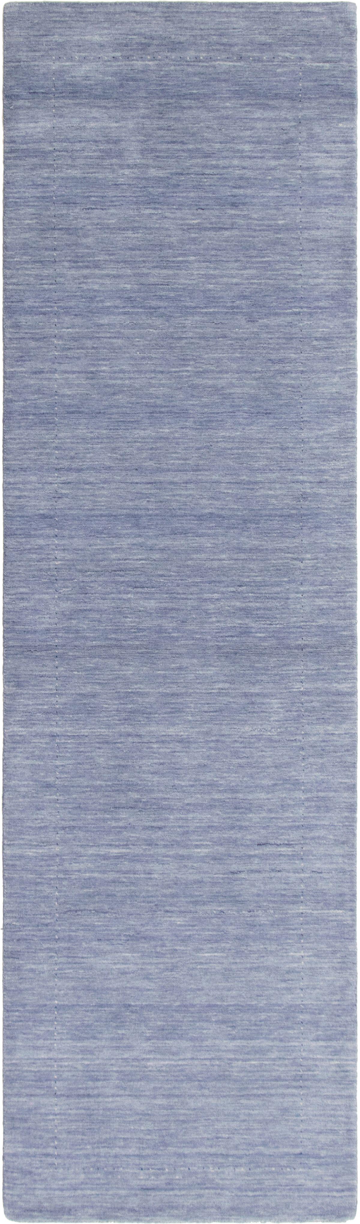 """Hand-knotted Kashkuli Gabbeh Slate Blue Wool Rug 2'9"""" x 10'1"""" Size: 2'9"""" x 10'1"""""""