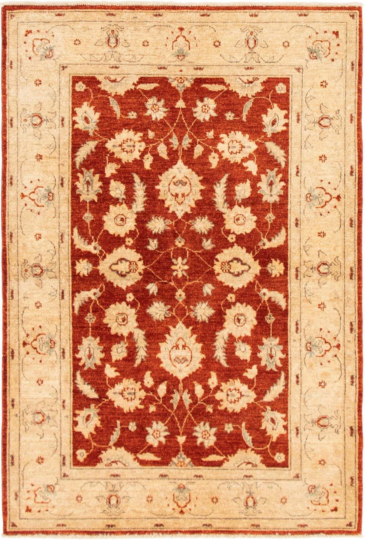 "Hand-knotted Chobi Finest Dark Copper Wool Rug 4'3"" x 6'4"" Size: 4'3"" x 6'4"""
