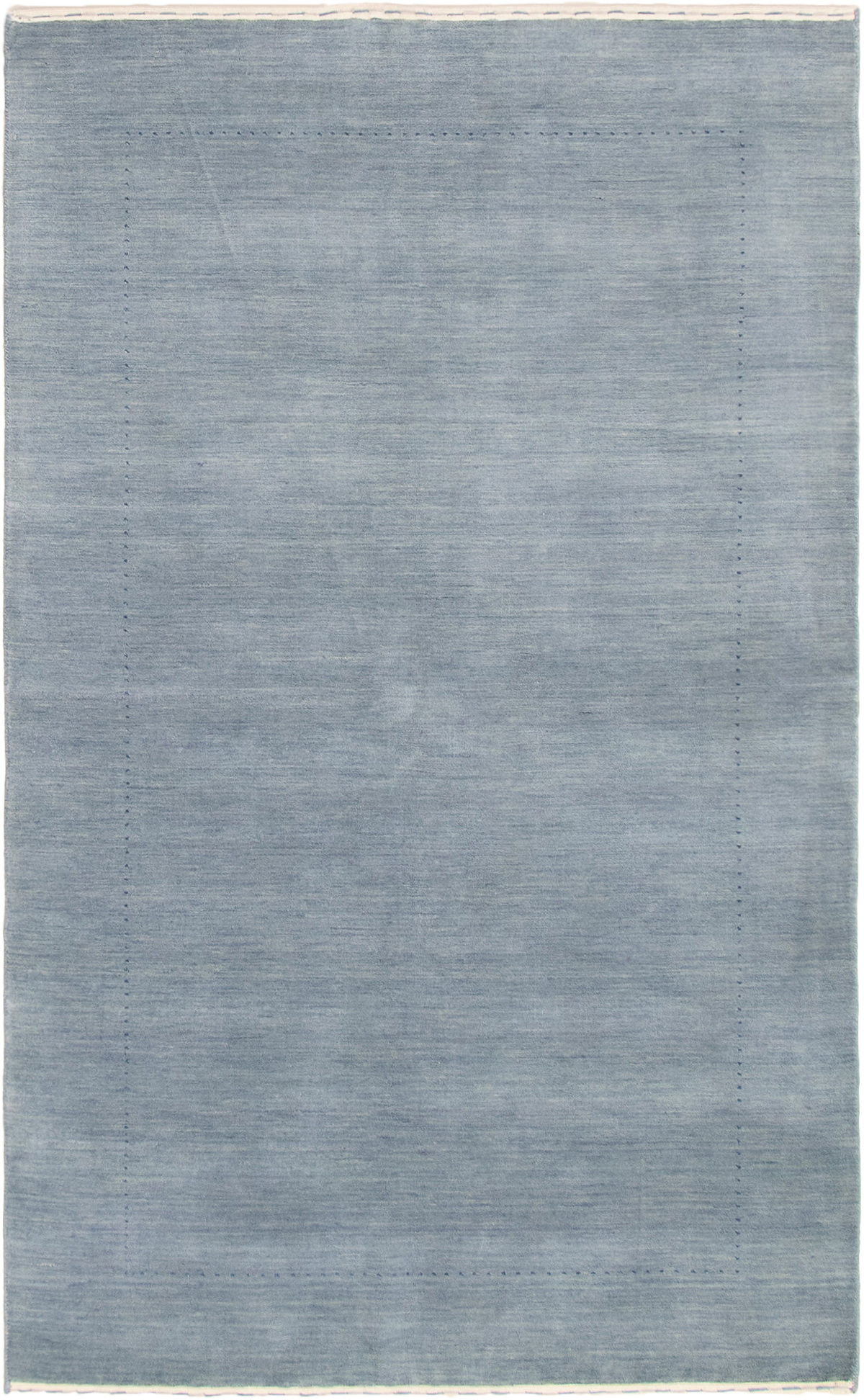 "Hand-knotted Kashkuli Gabbeh Light Denim Blue Wool Rug 4'10"" x 8'1"" Size: 4'10"" x 8'1"""