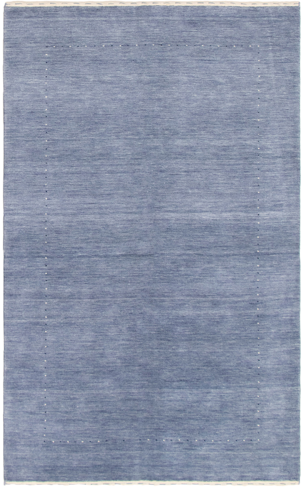 "Hand-knotted Kashkuli Gabbeh Light Denim Blue Wool Rug 4'10"" x 7'10"" Size: 4'10"" x 7'10"""
