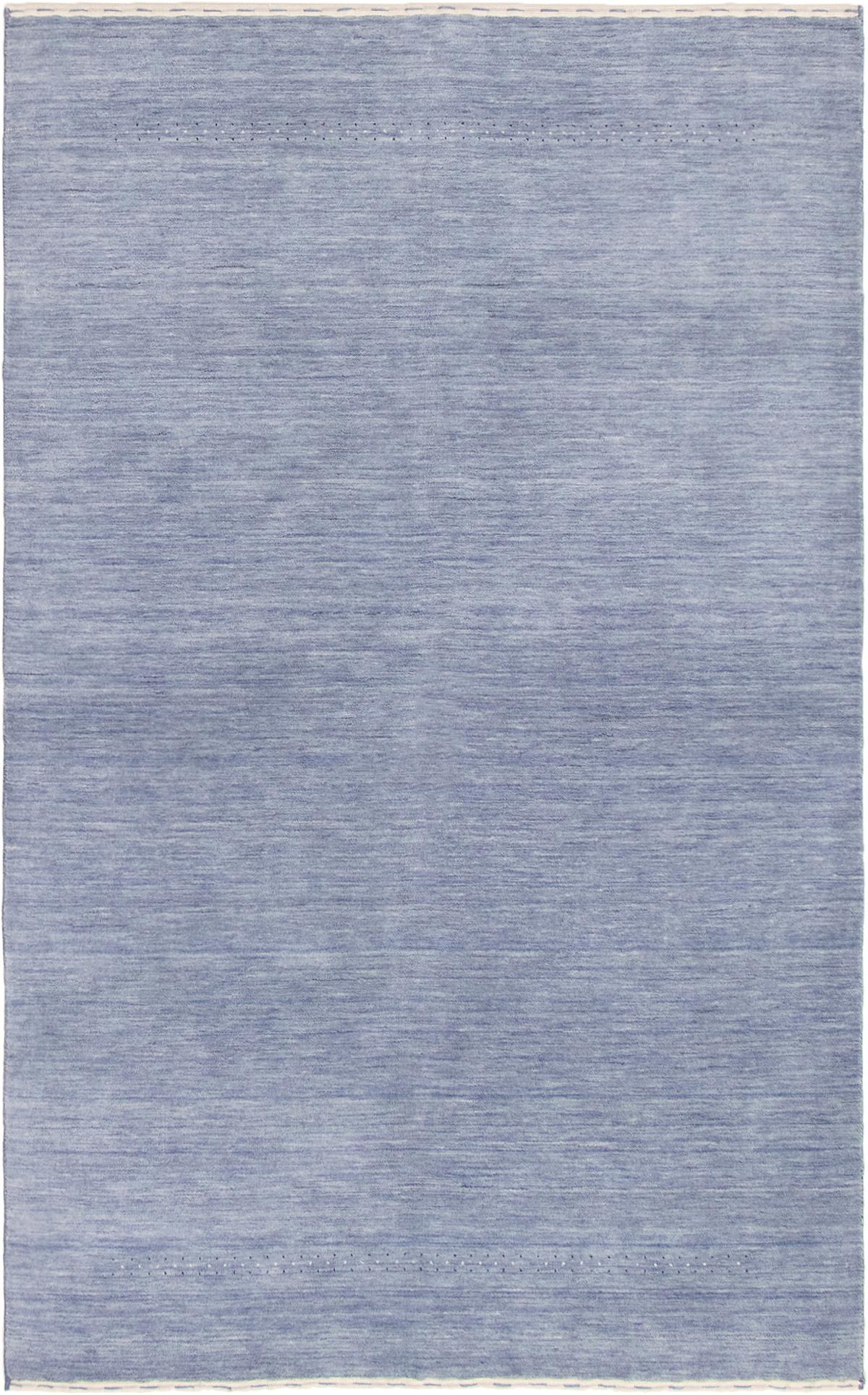 "Hand-knotted Kashkuli Gabbeh Light Denim Blue,  Wool Rug 5'0"" x 8'0"" Size: 5'0"" x 8'0"""