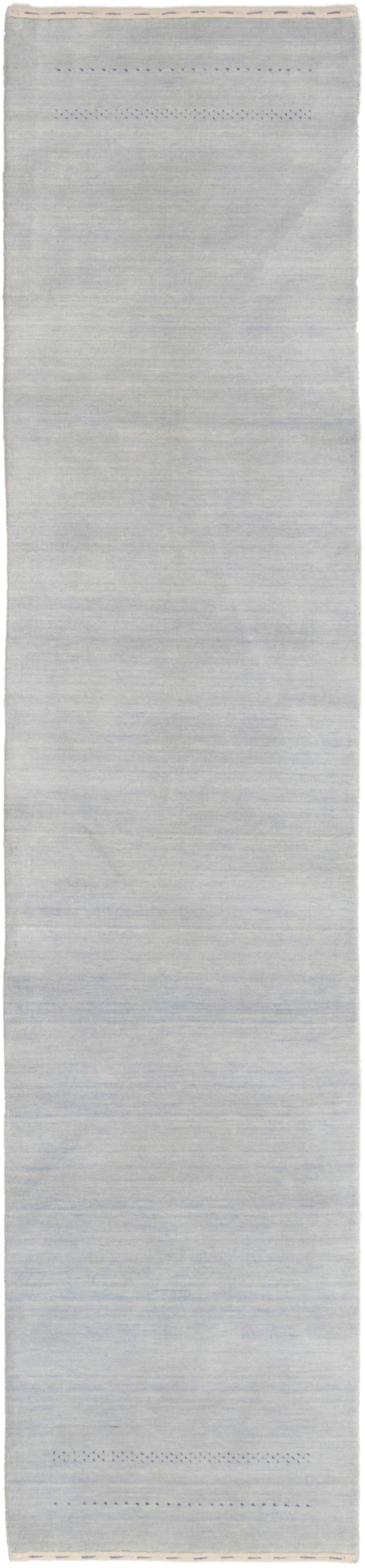 """Hand-knotted Kashkuli Gabbeh Light Blue  Wool Rug 2'8"""" x 12'2"""" Size: 2'8"""" x 12'2"""""""