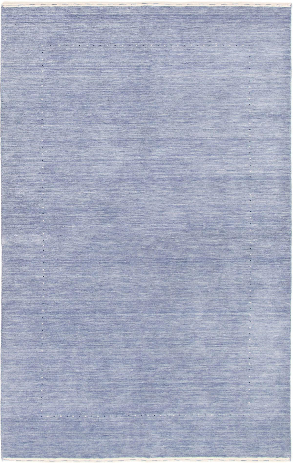 "Hand-knotted Kashkuli Gabbeh Light Denim Blue,  Wool Rug 5'1"" x 8'0"" Size: 5'1"" x 8'0"""