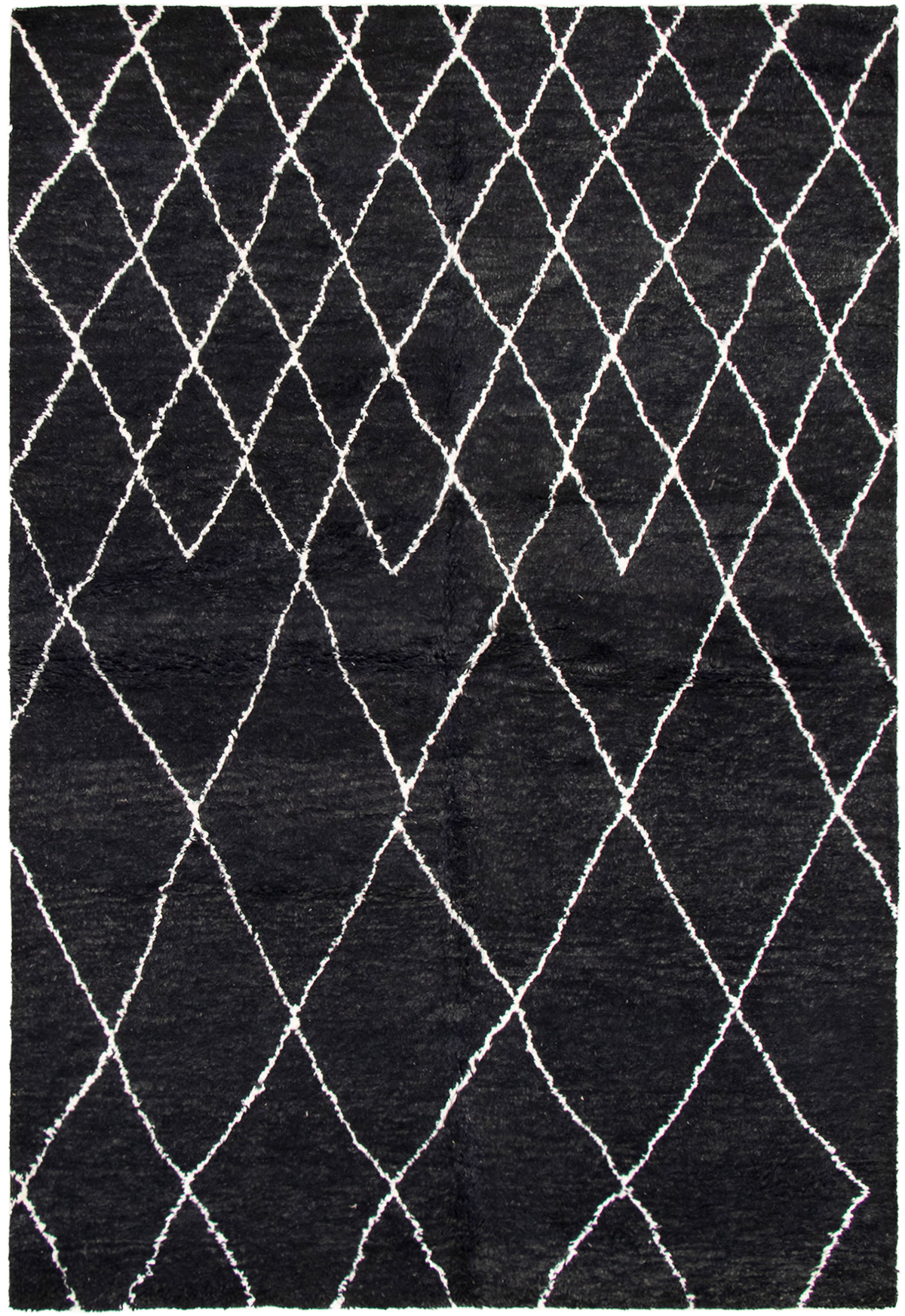 """Hand-knotted Arlequin Black Wool Rug 6'0"""" x 9'0""""  Size: 6'0"""" x 9'0"""""""