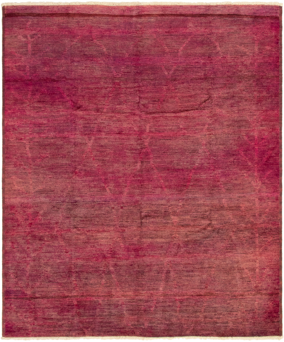 """Hand-knotted Vibrance Dark Pink Wool Rug 8'0"""" x 9'6"""" Size: 8'0"""" x 9'6"""""""