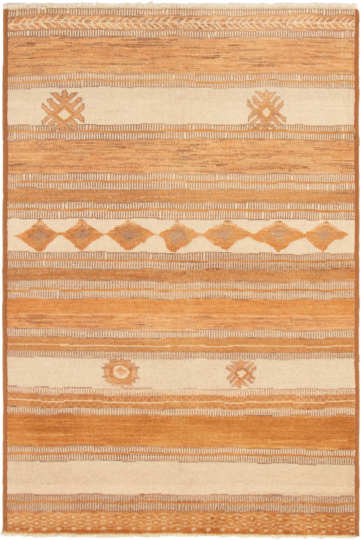 "Hand-knotted Shalimar Burnt Orange, Cream Wool Rug 5'9"" x 8'9"" Size: 5'9"" x 8'9"""