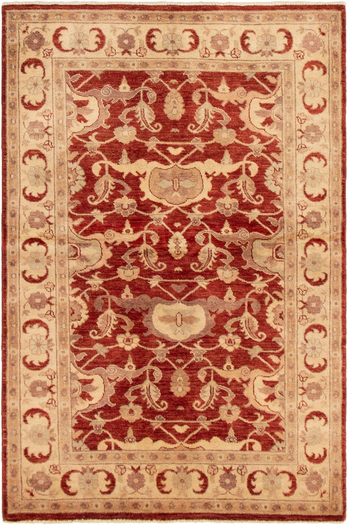 "Hand-knotted Peshawar Oushak Dark Copper Wool Rug 4'1"" x 6'2"" Size: 4'1"" x 6'2"""