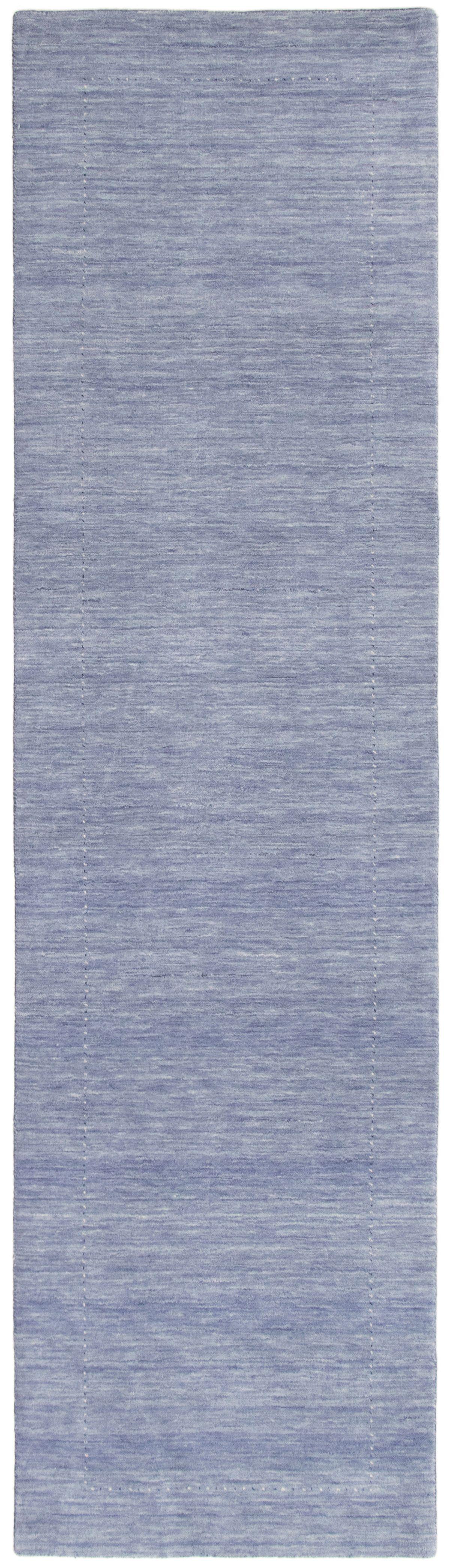 """Hand-knotted Kashkuli Gabbeh Slate Blue Wool Rug 2'9"""" x 10'0""""  Size: 2'9"""" x 10'0"""""""