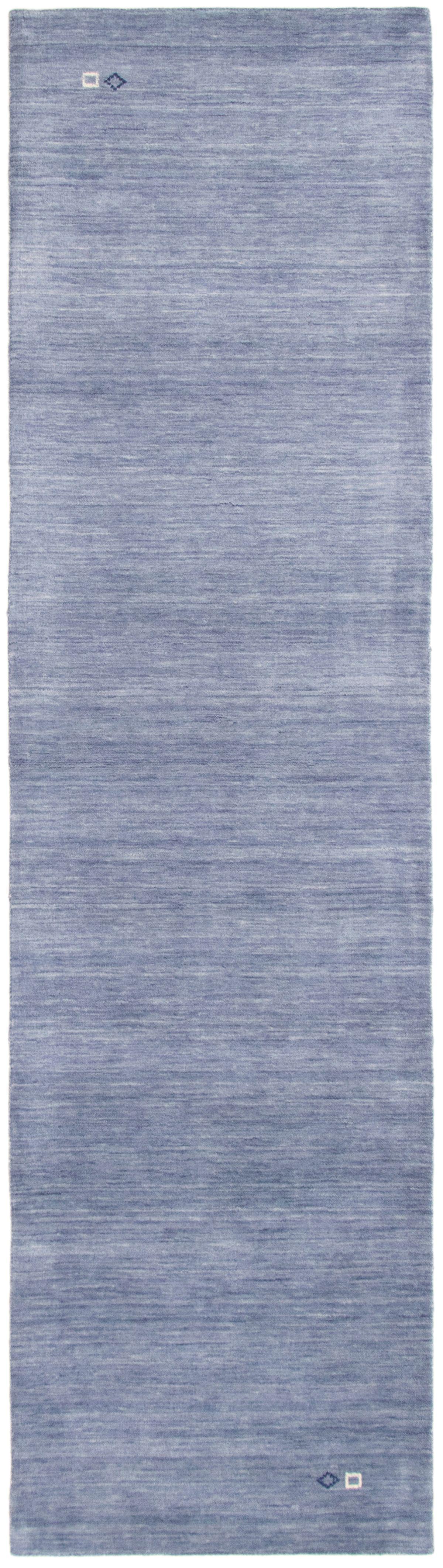 """Hand-knotted Kashkuli Gabbeh Slate Blue Wool Rug 2'8"""" x 9'10"""" Size: 2'8"""" x 9'10"""""""